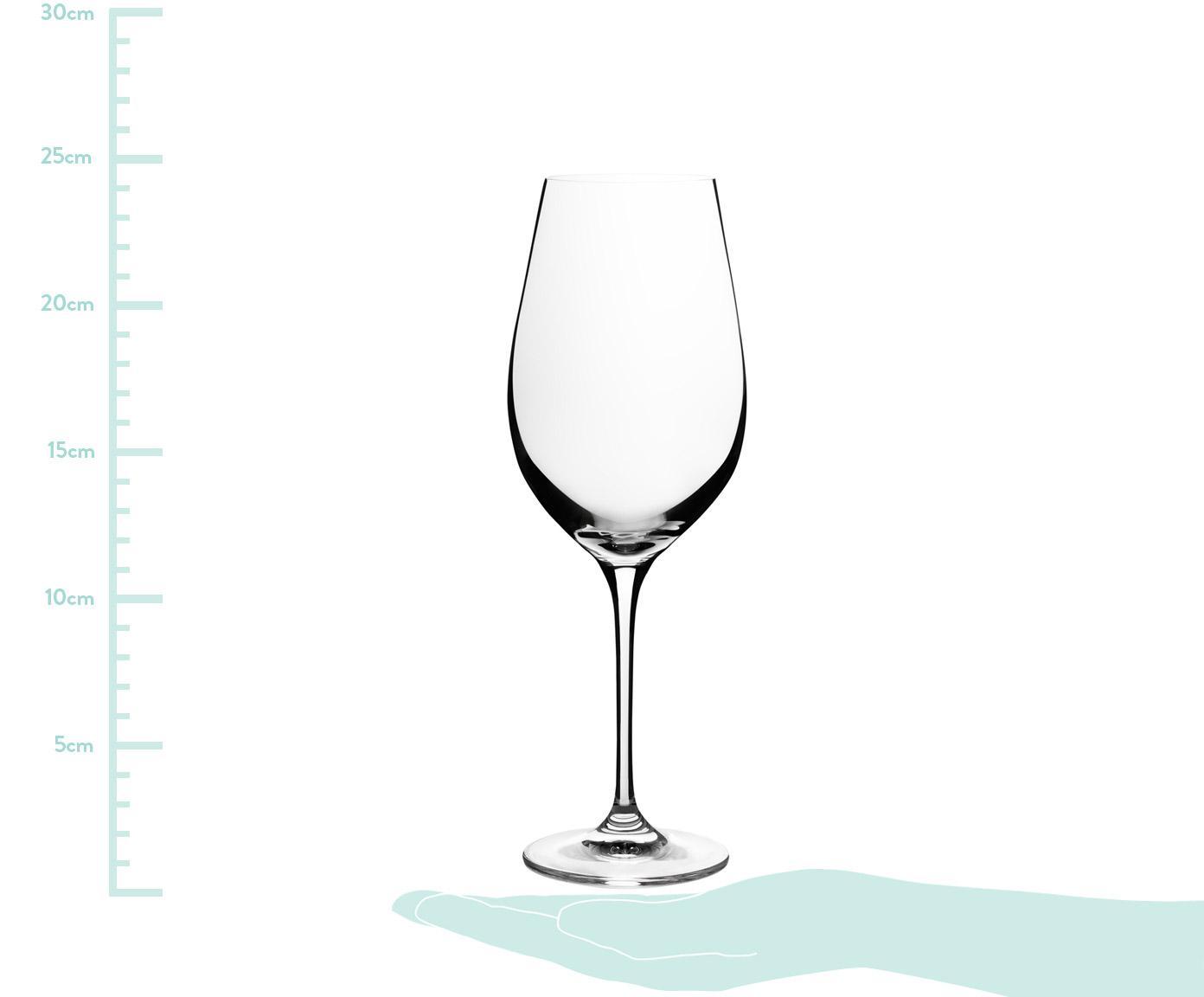 Kristallen rode wijnglazen Harmony, 6 stuks, Edele glans - het kristalglas breekt het licht en dit creëert een sprankelend effect, waardoor elk wijnglas als een bijzonder moment kan worden ervaren., Transparant, 490 ml