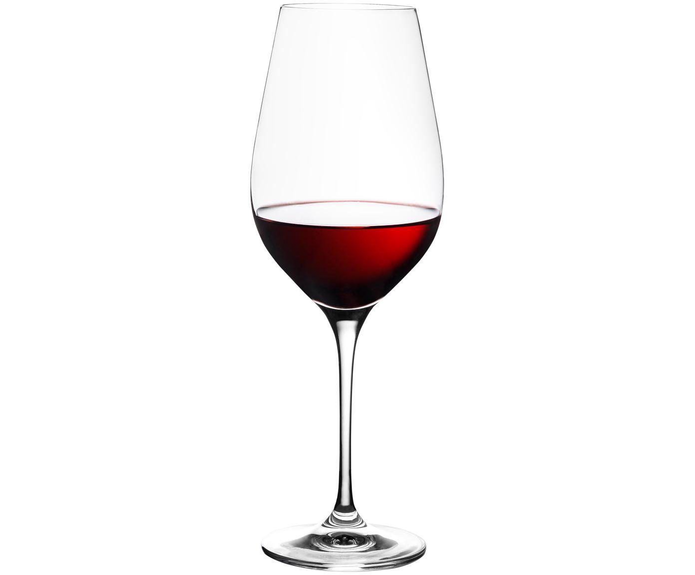 Copas de vino tinto de cristal Harmony, 6uds., Transparente, 490 ml