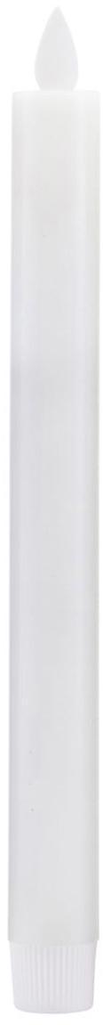 Candela a bastone a LED Ease 2 pz, Bianco, Ø 2 x Alt. 24 cm