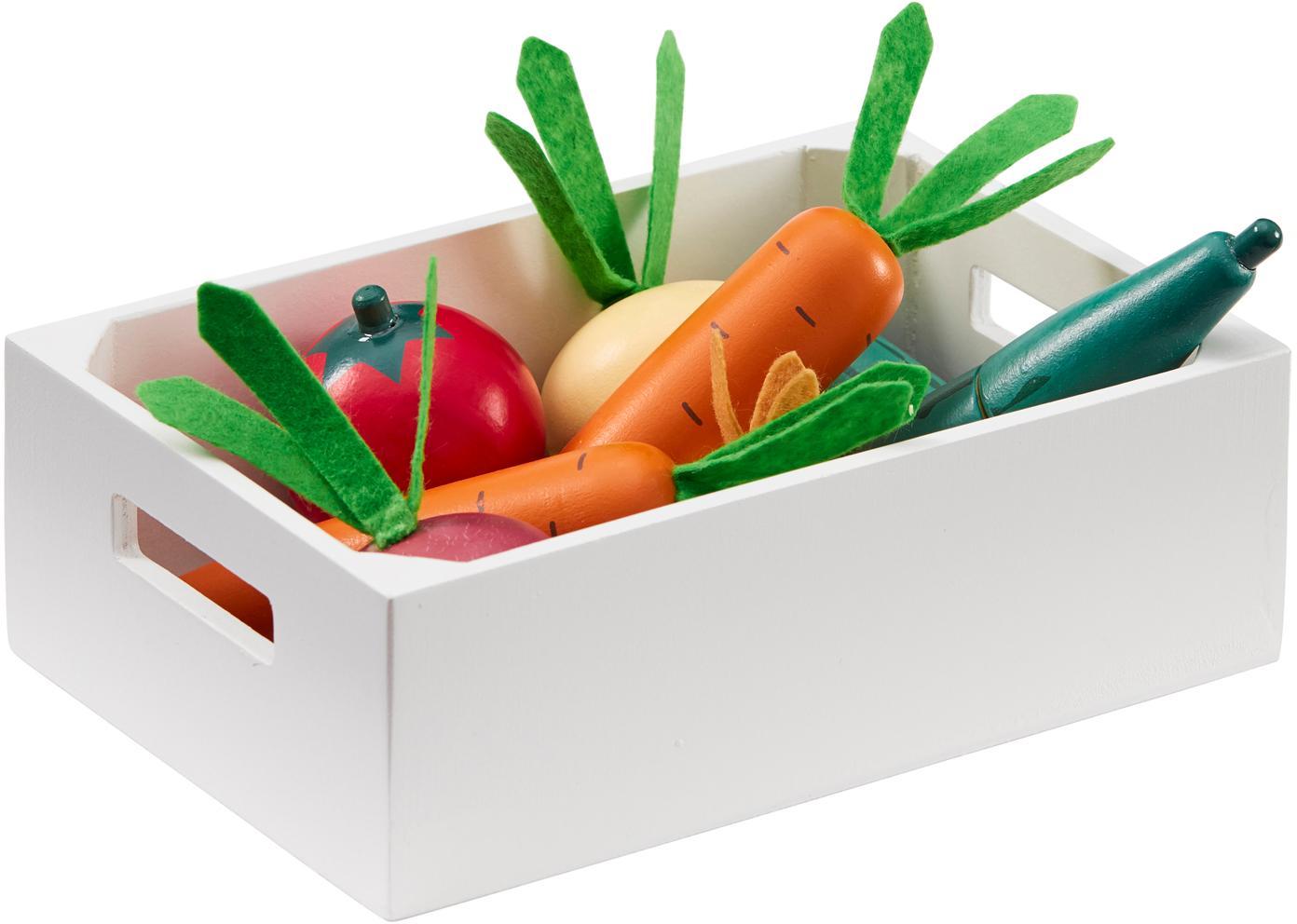 Spielzeug-Set Vegetables, Holz, Mehrfarbig, Set mit verschiedenen Grössen