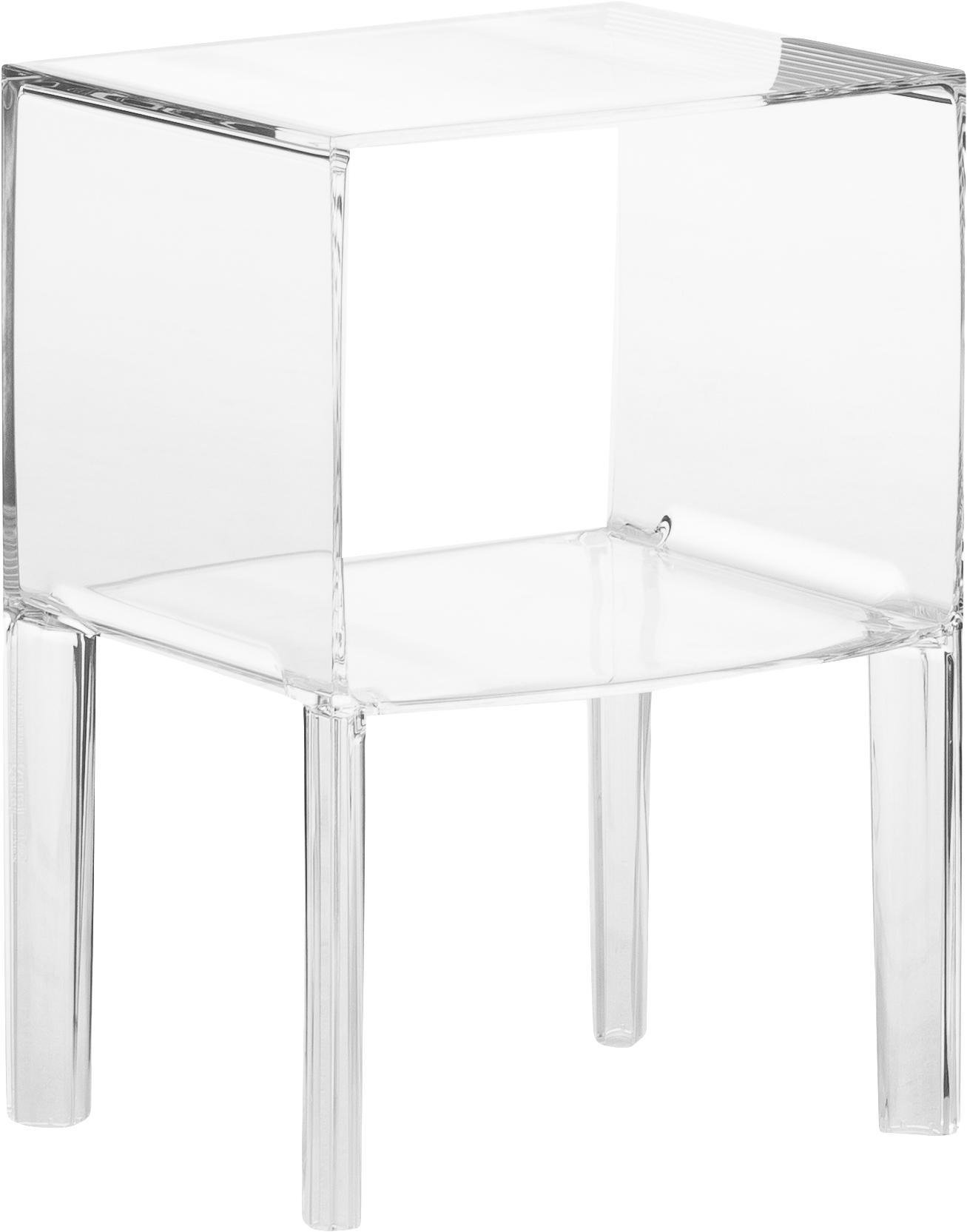 Nachtkastje Ghost Buster, Kunststof, Transparant, 40 x 57 cm