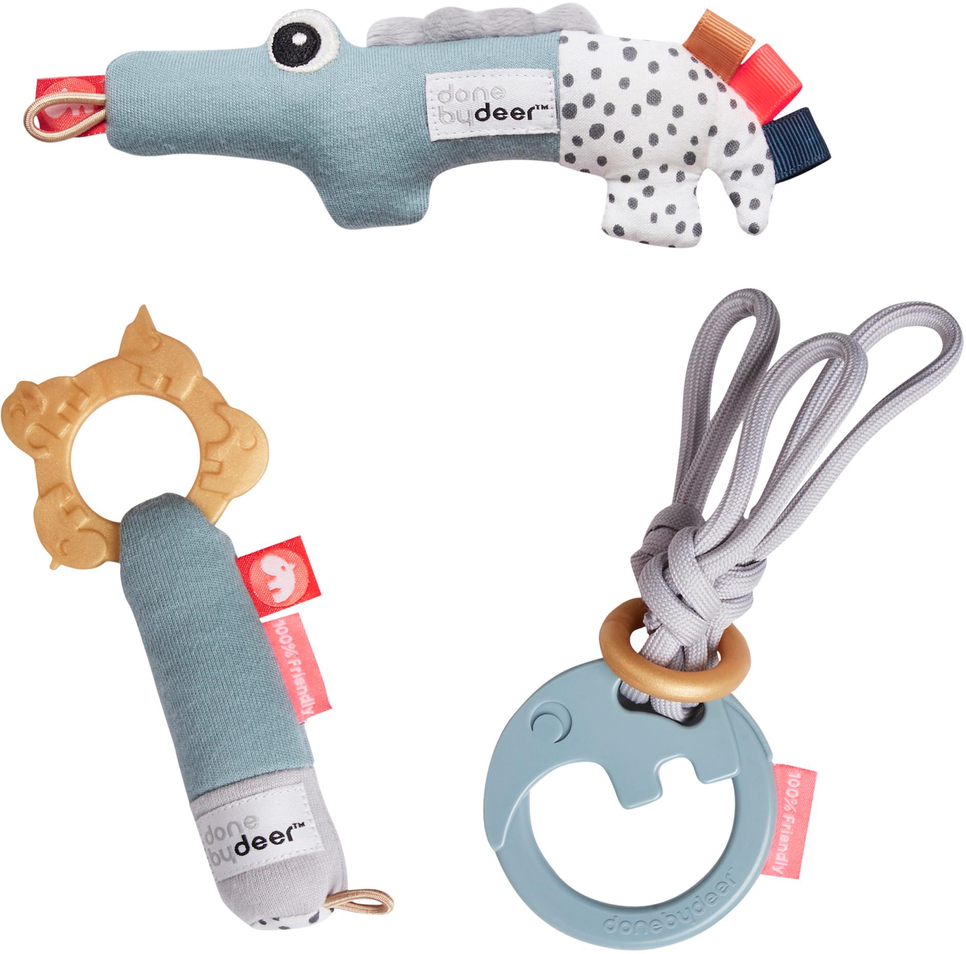 Komplet zabawek Deer Friends, 3 elem., Tapicerka: 100% bawełna, Tapicerka: 100% bawełna, Wielobarwny, Komplet z różnymi rozmiarami