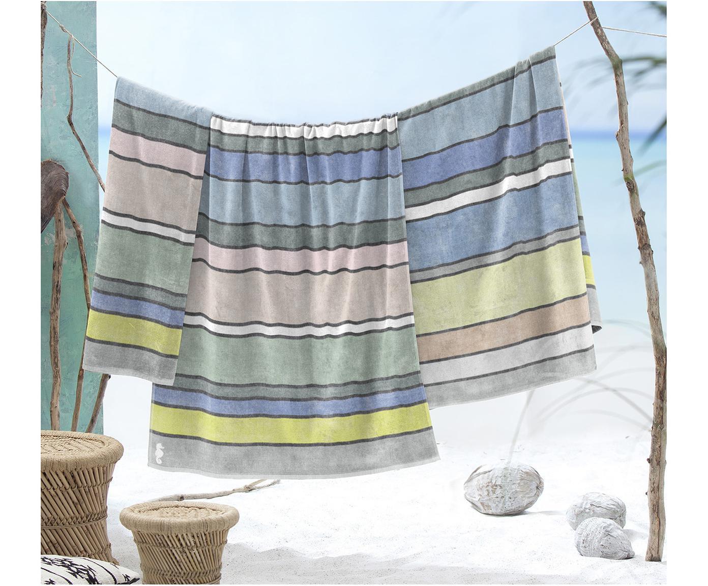Ręcznik plażowy Belize, Egipska bawełna, średnia gramatura 420 g/m, Wielobarwny, S 100 x D 180 cm