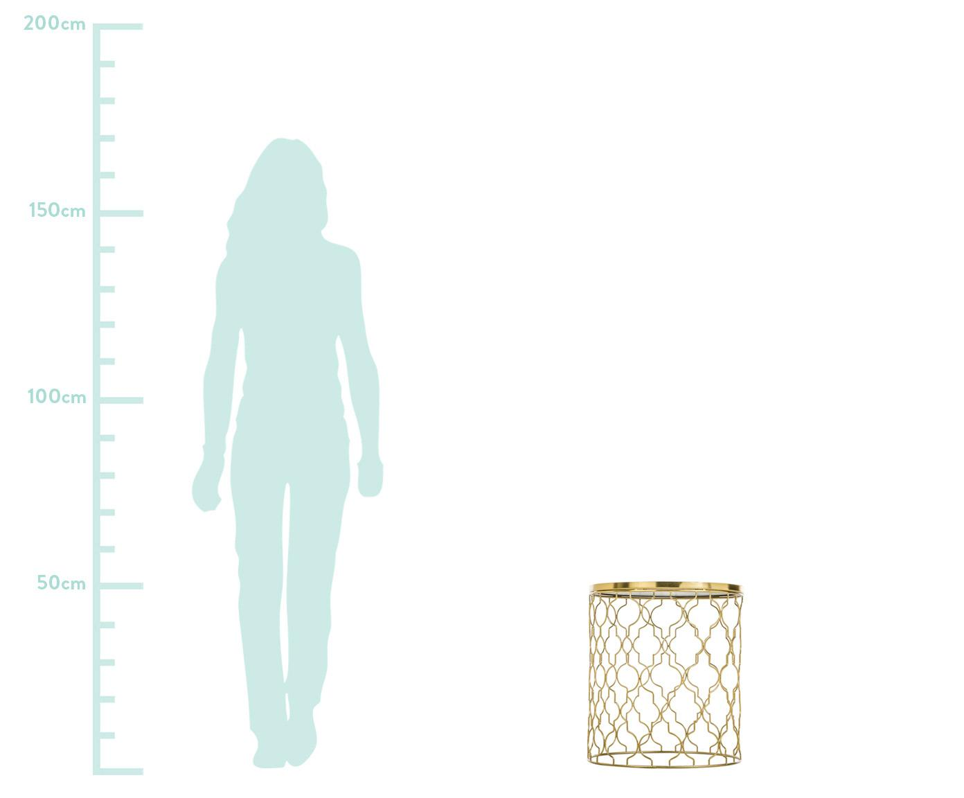 Marmor-Beistelltisch-Set Blake, 2-tlg., Tischplatten: Grüner MarmorGestelle: Goldfarben, glänzend, Sondergrößen