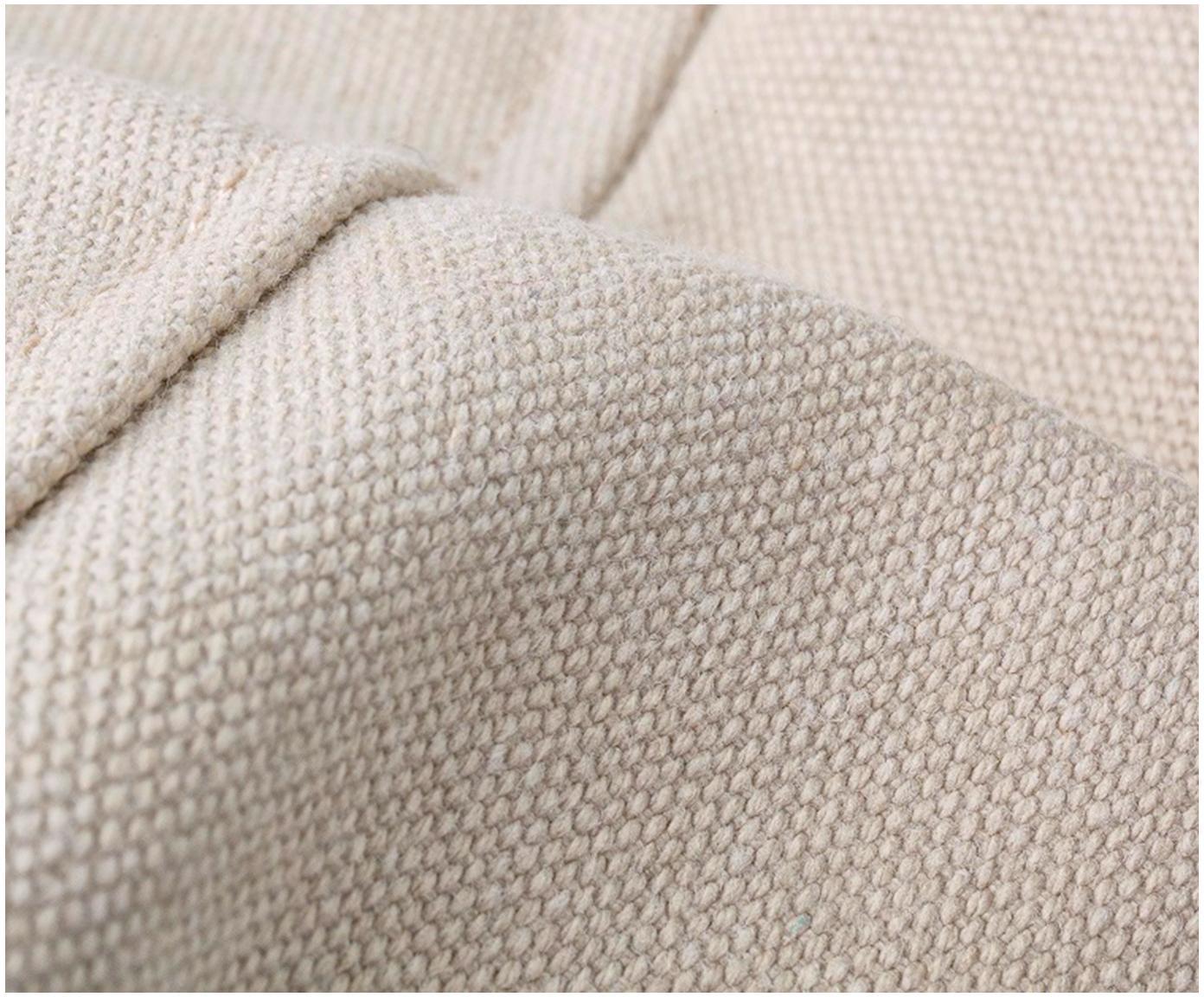 Outdoor-Sitzsack Meadow, Bezug: 75% Baumwolle, 25% Polyes, Creme, 130 x 160 cm