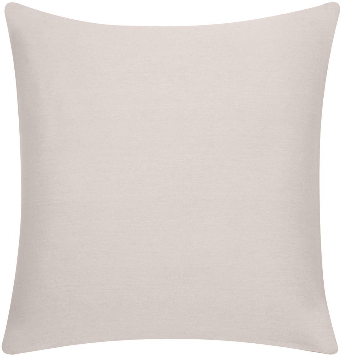 Federa arredo in cotone beige Mads, 100% cotone, Beige, Larg. 40 x Lung. 40 cm