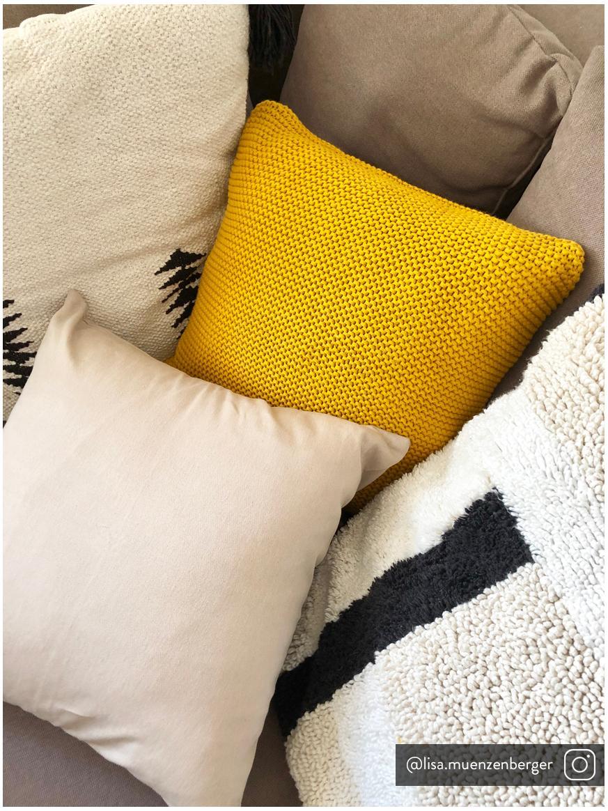 Federa arredo in cotone beige Mads, 100% cotone, Beige, Larg. 50 x Lung. 50 cm