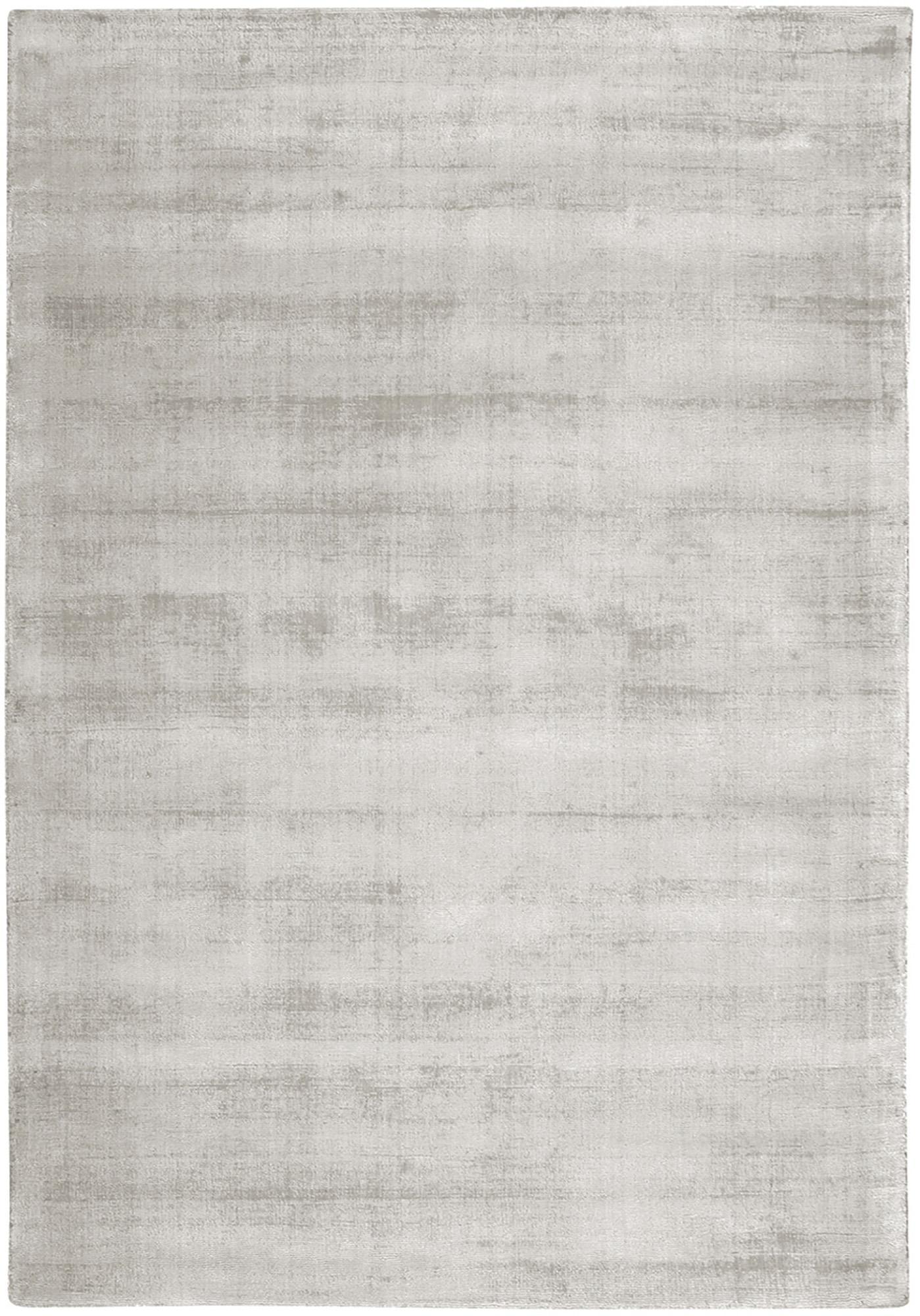 Alfombra artesanal de viscosa Jane, Parte superior: 100%viscosa, Reverso: 100%algodón, Gris claro, beige, An 160 x L 230 cm (Tamaño M)