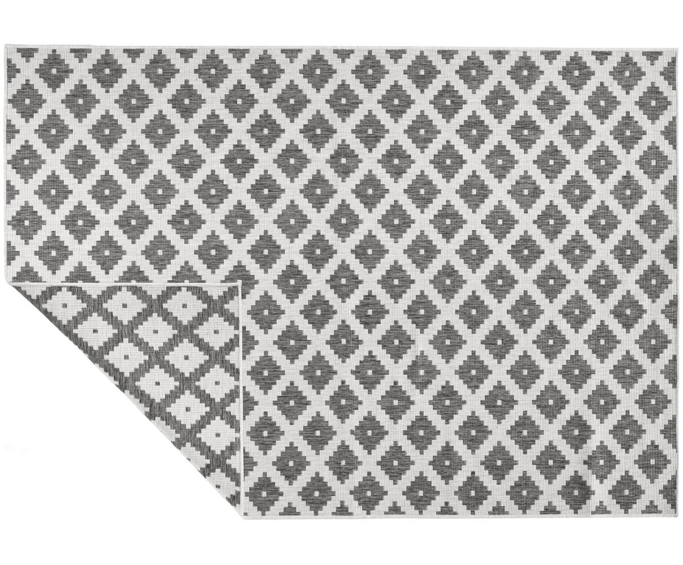 In- und Outdoor-Wendeteppich Nizza in Grau/Creme, Grau, Cremefarben, B 80 x L 150 cm (Größe XS)