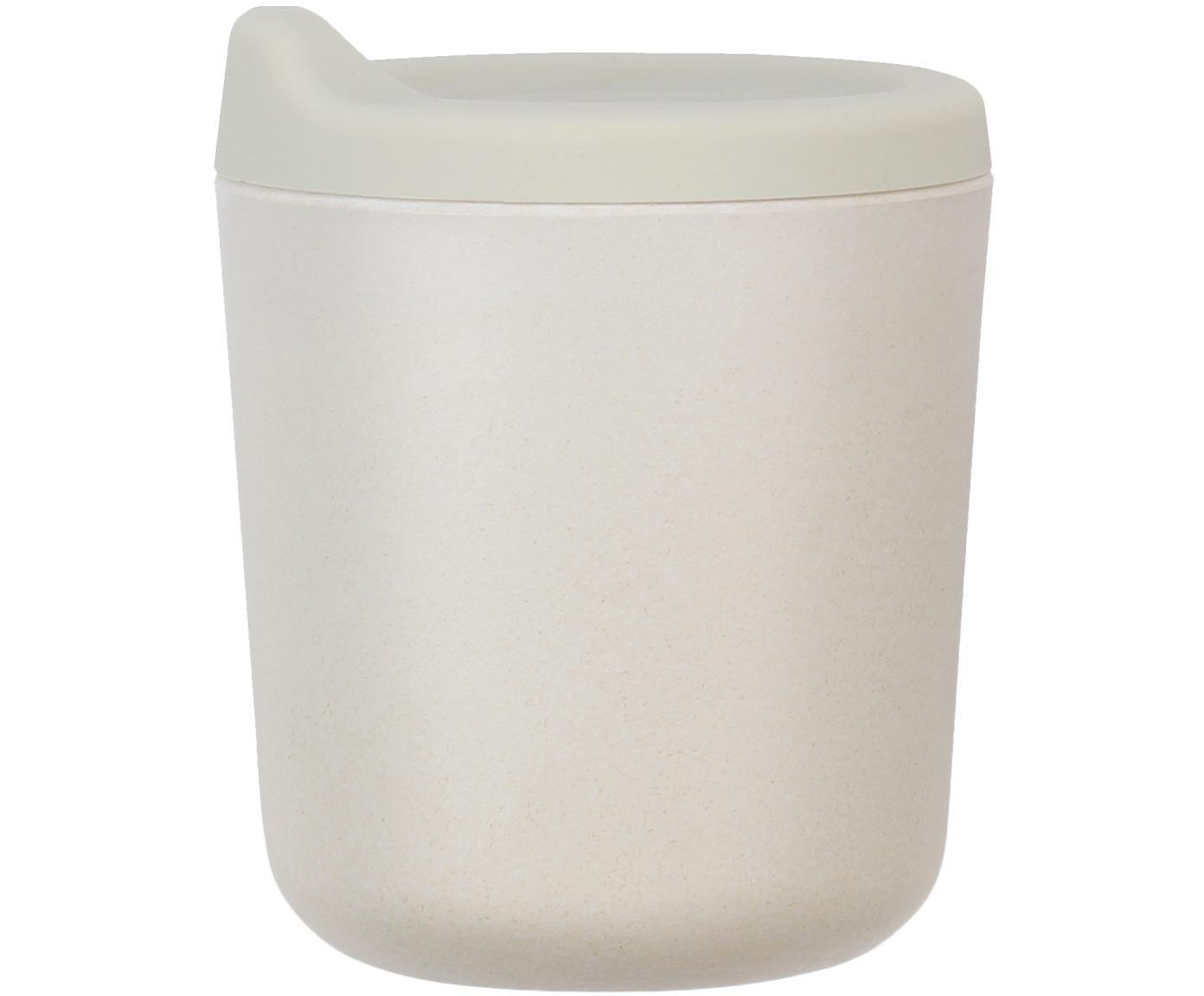 Trinkbecher Bambino, Bambusfasern, Melamin, lebensmittelecht BPA, PVC und Phthalate frei, Hellgrau, Ø 7 x H 9 cm