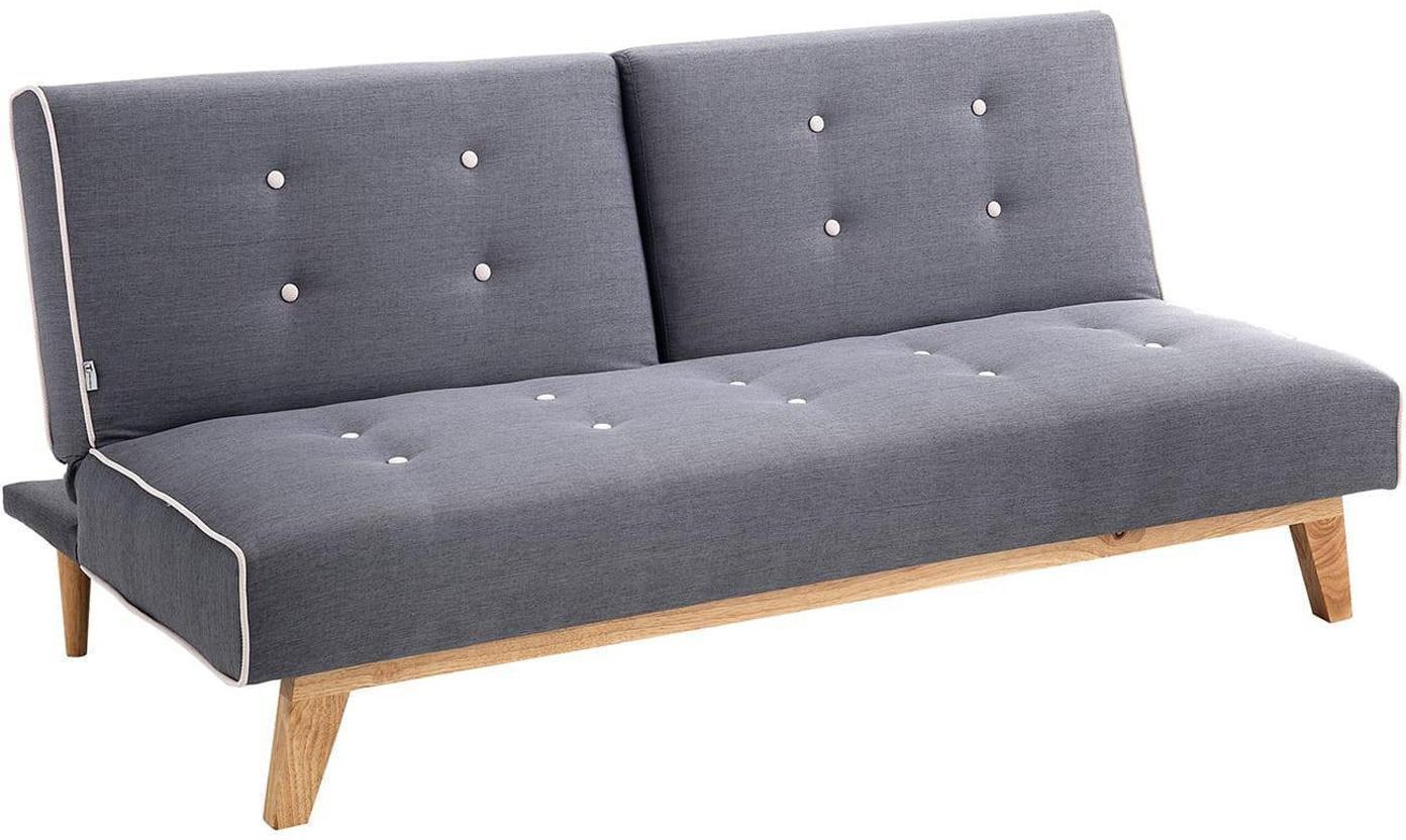 Sofá cama Tweet, Patas: madera de haya, Estructura: madera de pino, Tapizado: poliéster, Gris, beige, An 180 x F 100 cm