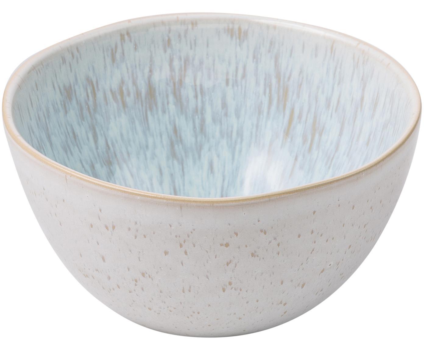 Ciotole dipinte a mano Areia, 2 pz., Gres, Azzurro, bianco latteo, beige chiaro, Ø 15 x A 8 cm