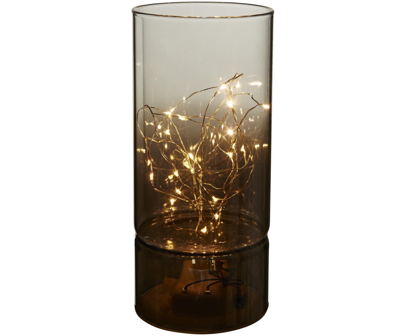 Lampada da tavolo Mirror Tube a LED a batteria, Lampada: vetro, Grigio, Ø 9 x Alt. 20 cm