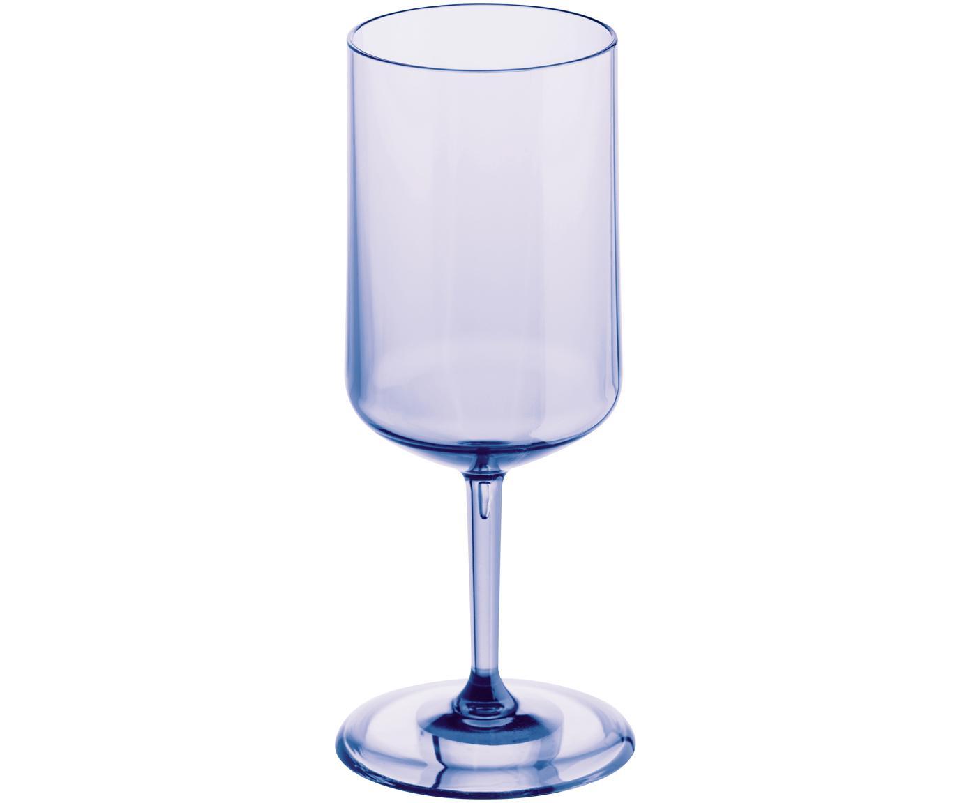 Bicchiere da vino bianco Cheers, Materiale sintetico termoplastico (Superglass), Lilla blu trasparente, Ø 9 x Alt. 21 cm