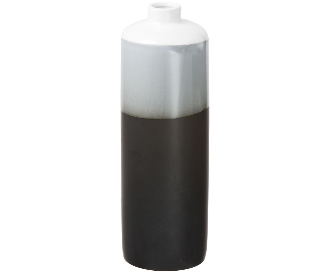 Vasen-Set Brixa aus Porzellan, 3-tlg., Porzellan, Schwarz, Grau, Weiß, matt, Sondergrößen