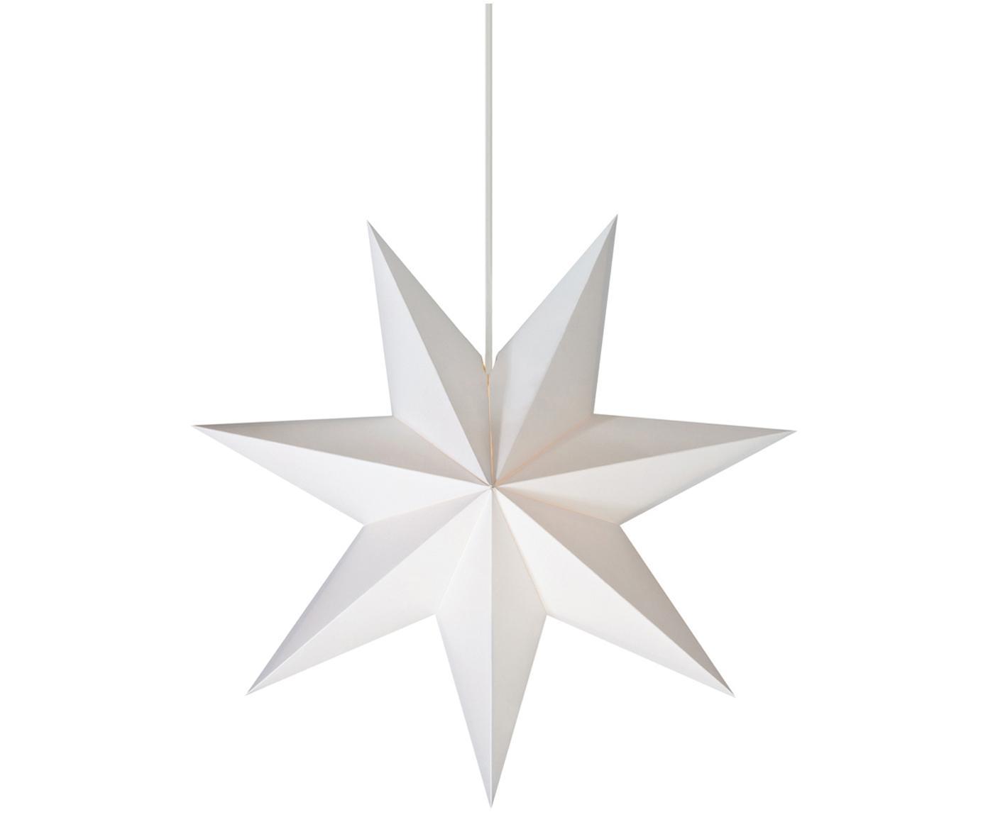 Lámpara estrella Duva, Cable: plástico, Blanco, Ø 45 cm
