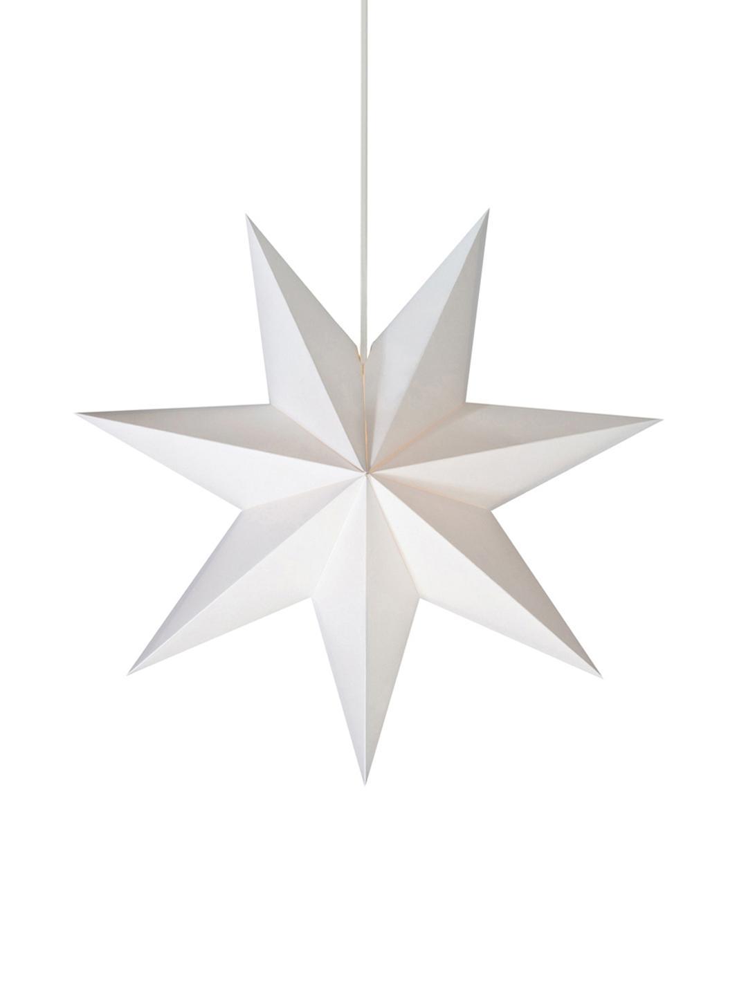 Stella di Natale luminosa di carta Duva, Bianco, Ø 45