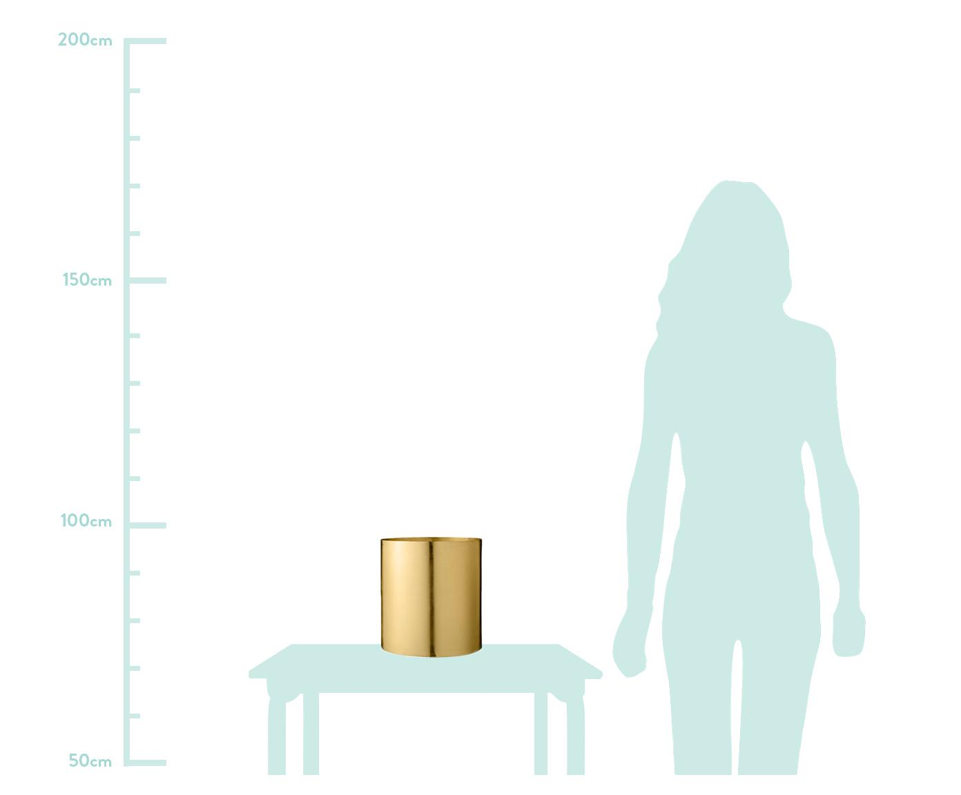 Portavaso Sharin, Metallo ottonato, Ottone, Ø 22 x Alt. 23 cm