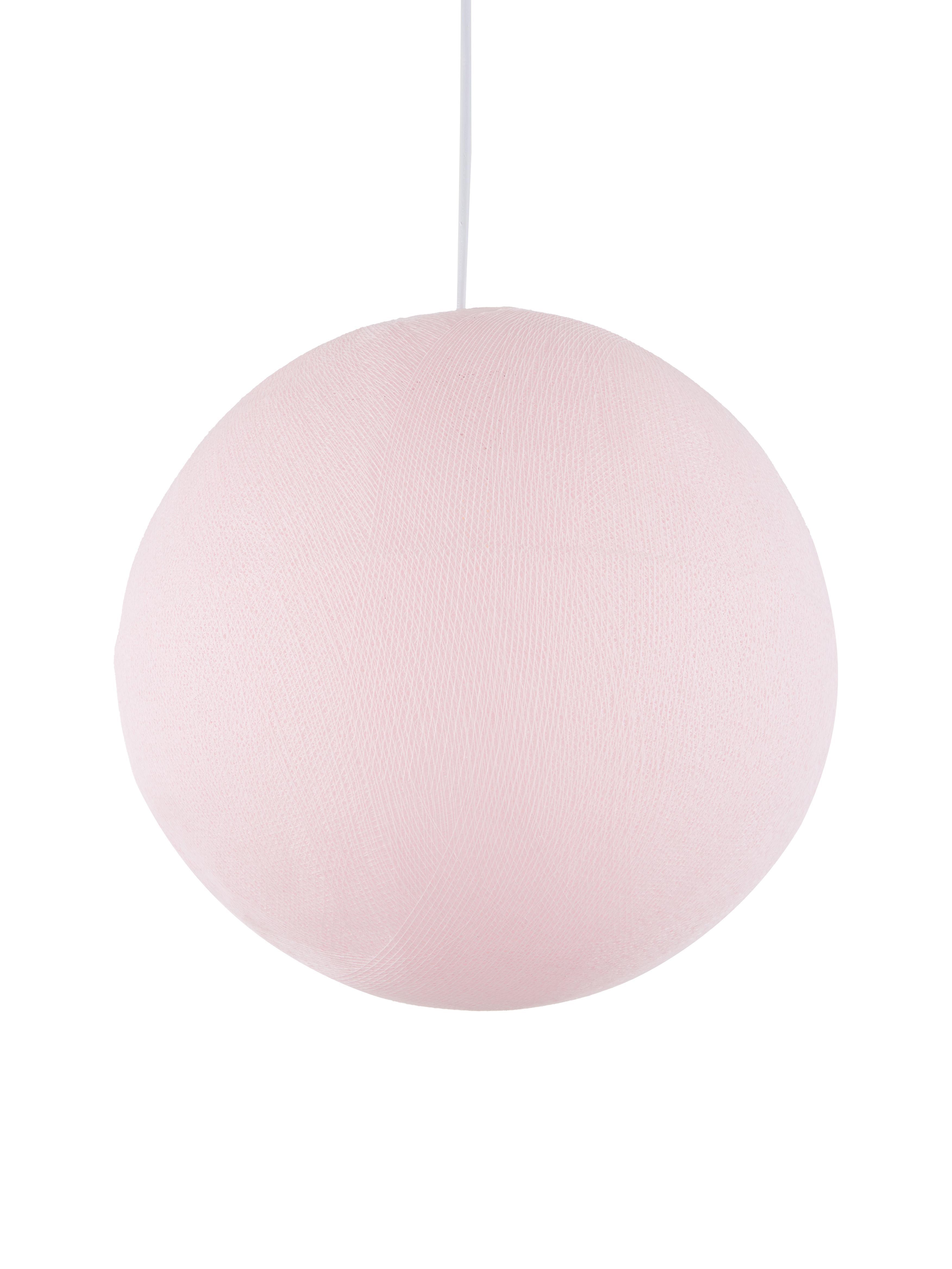 Lámpara de techo Colorain, Pantalla: poliéster, Cable: plástico, Rosa claro, Ø 41 x Al 135 cm