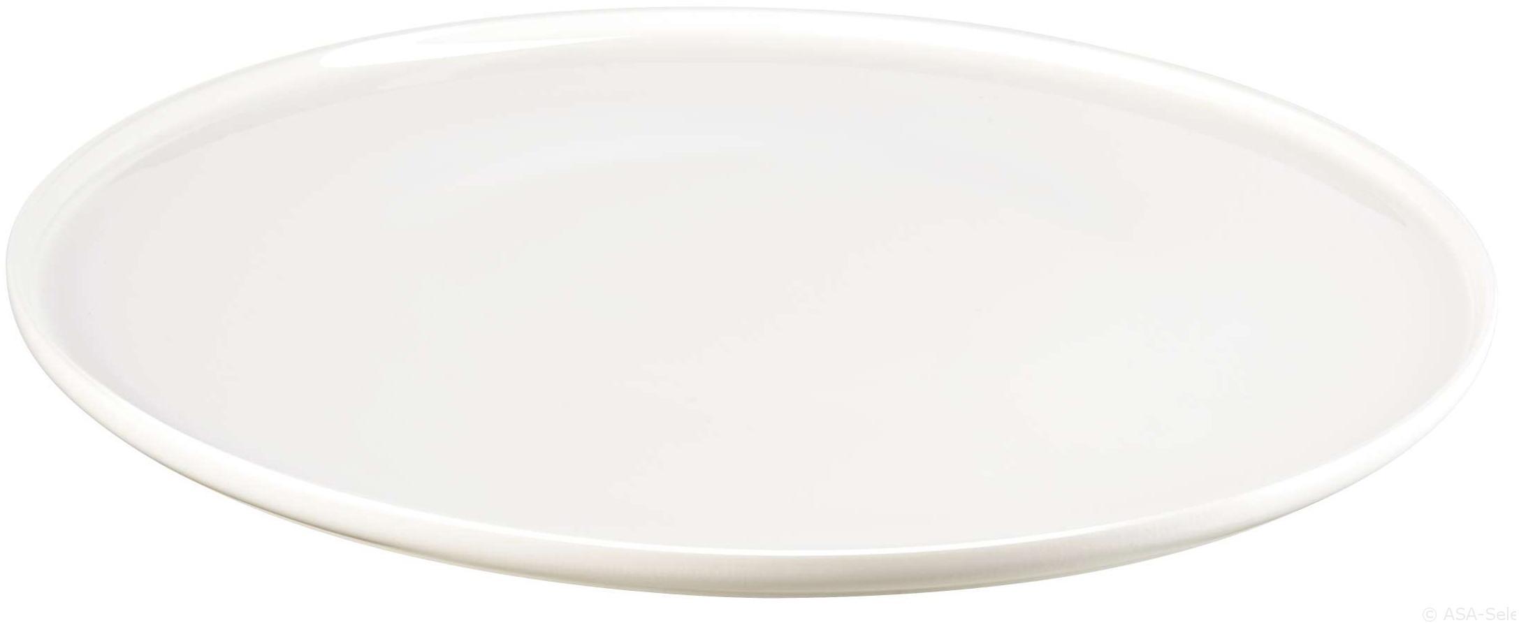 Plato llano de porcelana Oco, 6uds., Porcelana fina, Marfil, Ø 27 cm