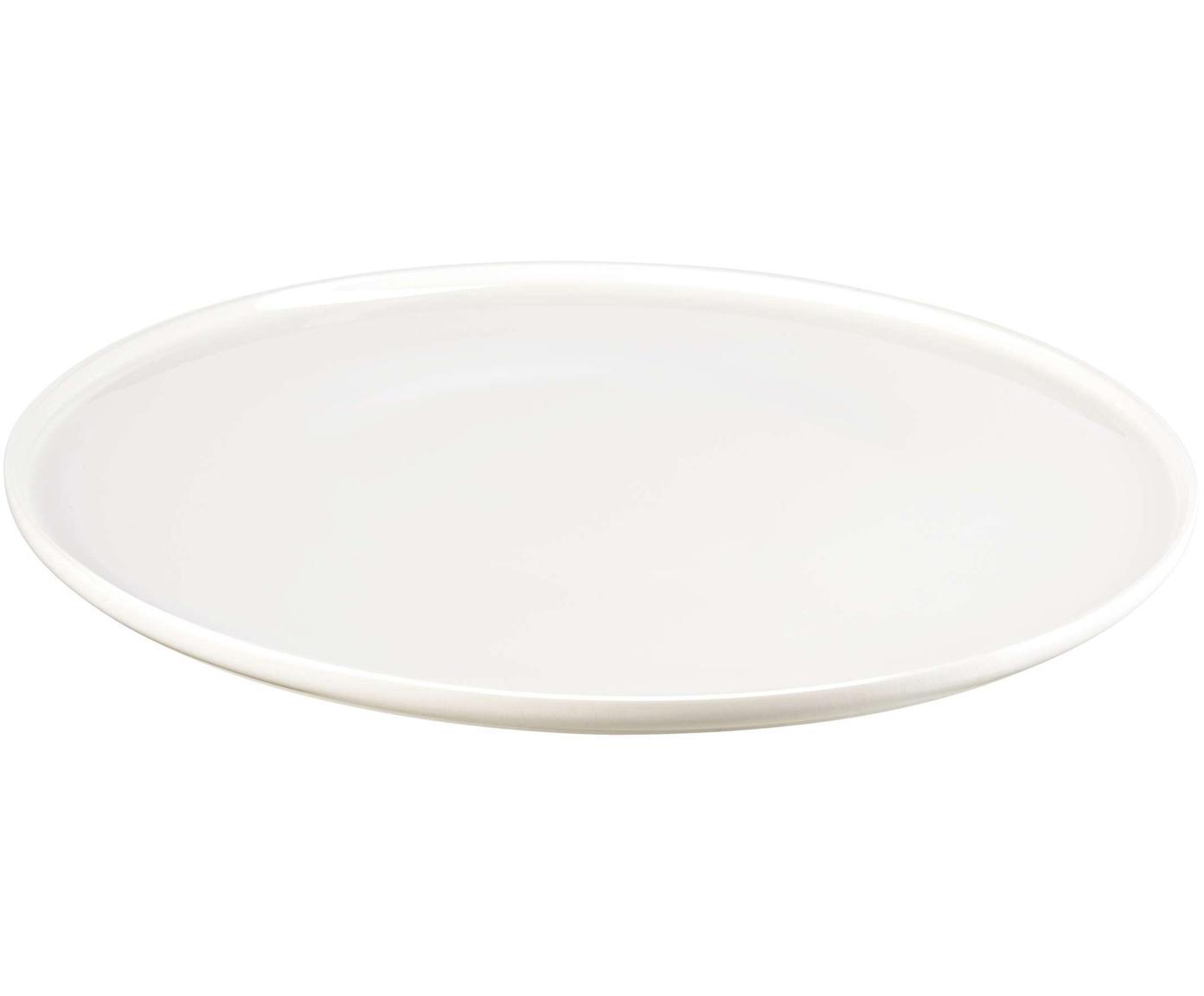Dinerborden Oco, 6 stuks, Beenderporselein, Wit, Ø 27 cm