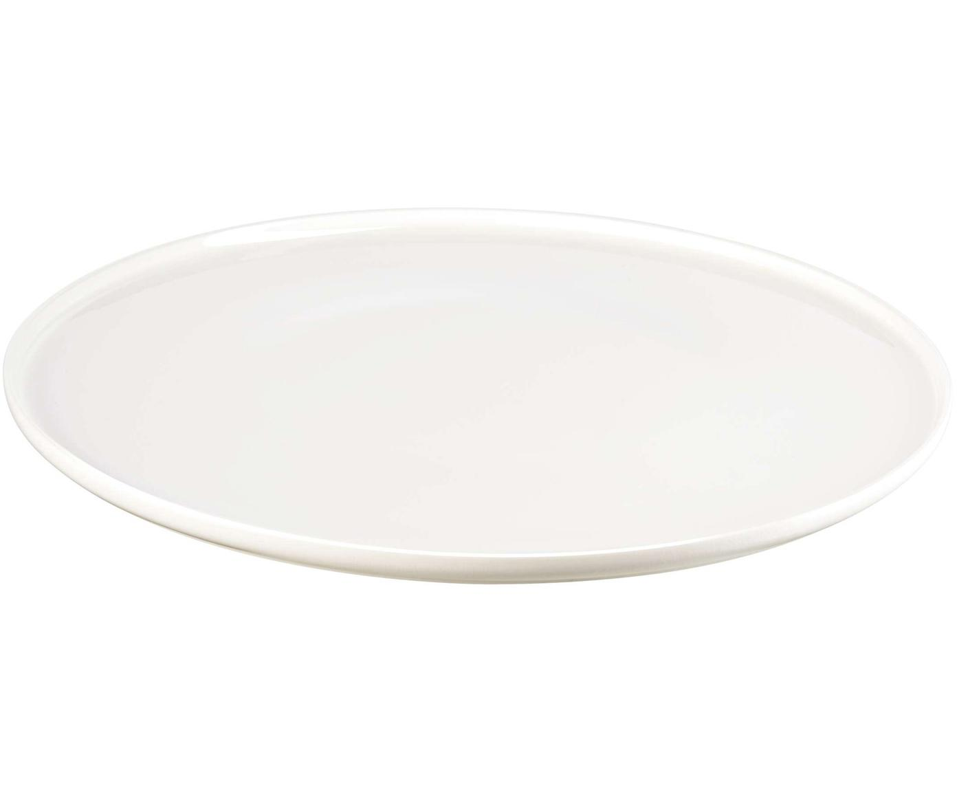 Plato llano Oco, 6 uds., Porcelana fina, Blanco, Ø 27 cm