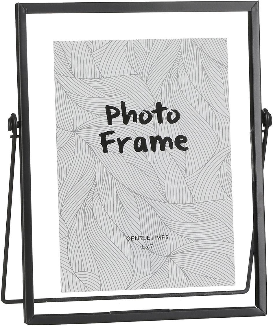 Portafoto da tavolo nero Aimee, Cornice: metallo, Cornice: nero Frontale: trasparente, 13 x 18 cm