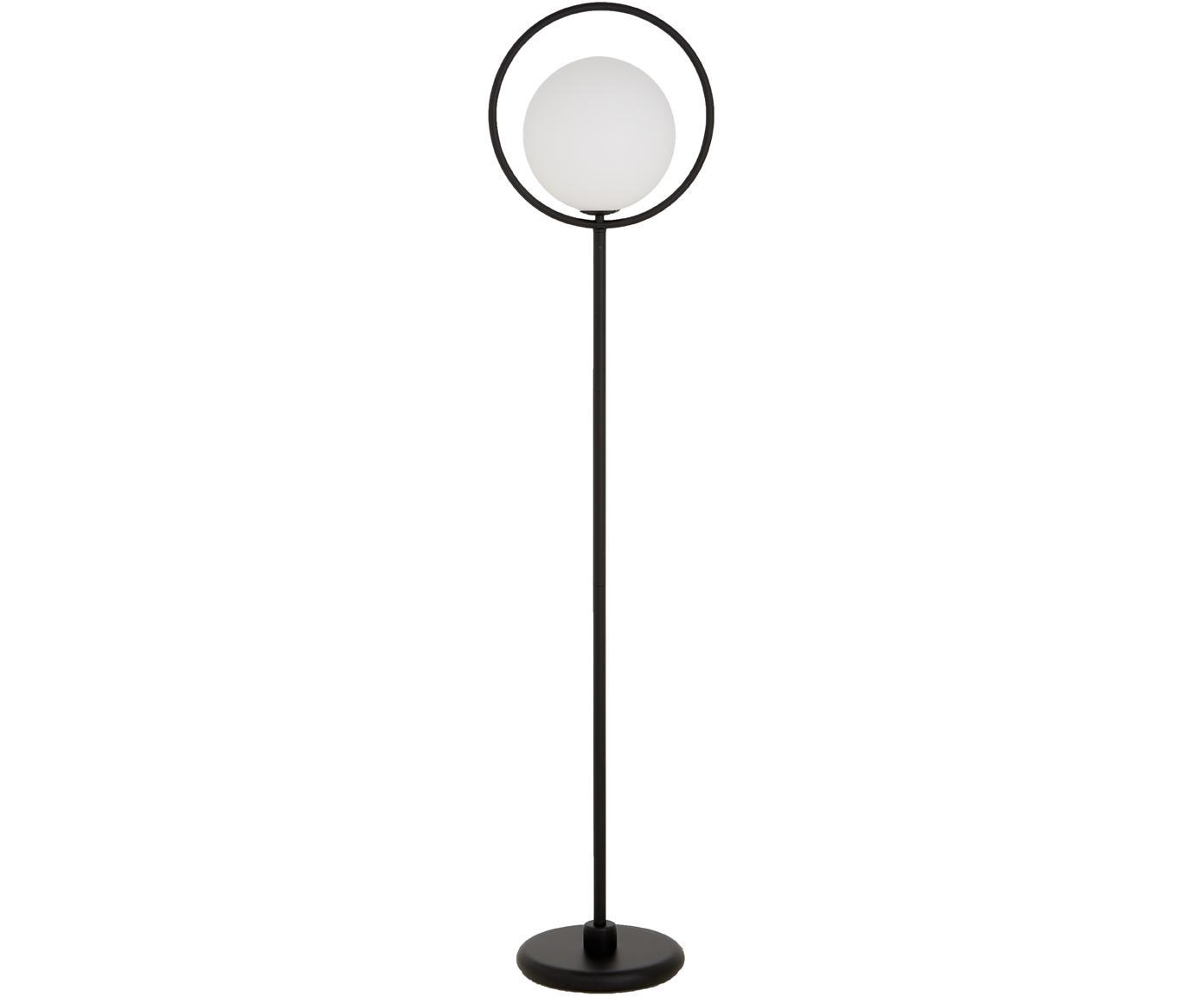Lampa podłogowa Saint, Biały, opalowy, czarny, S 30 x W 140 cm