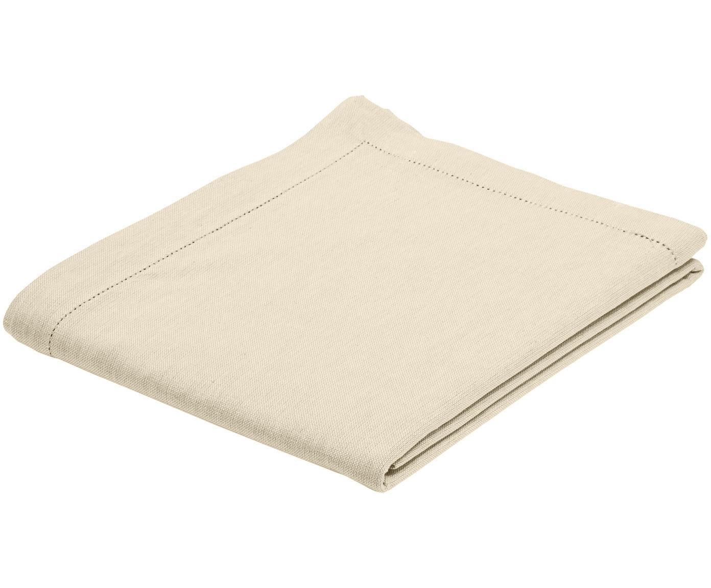Mantel de algodón Indi, Algodón, Crema, De 6 a 8 comensales (An 140 x L 250 cm)