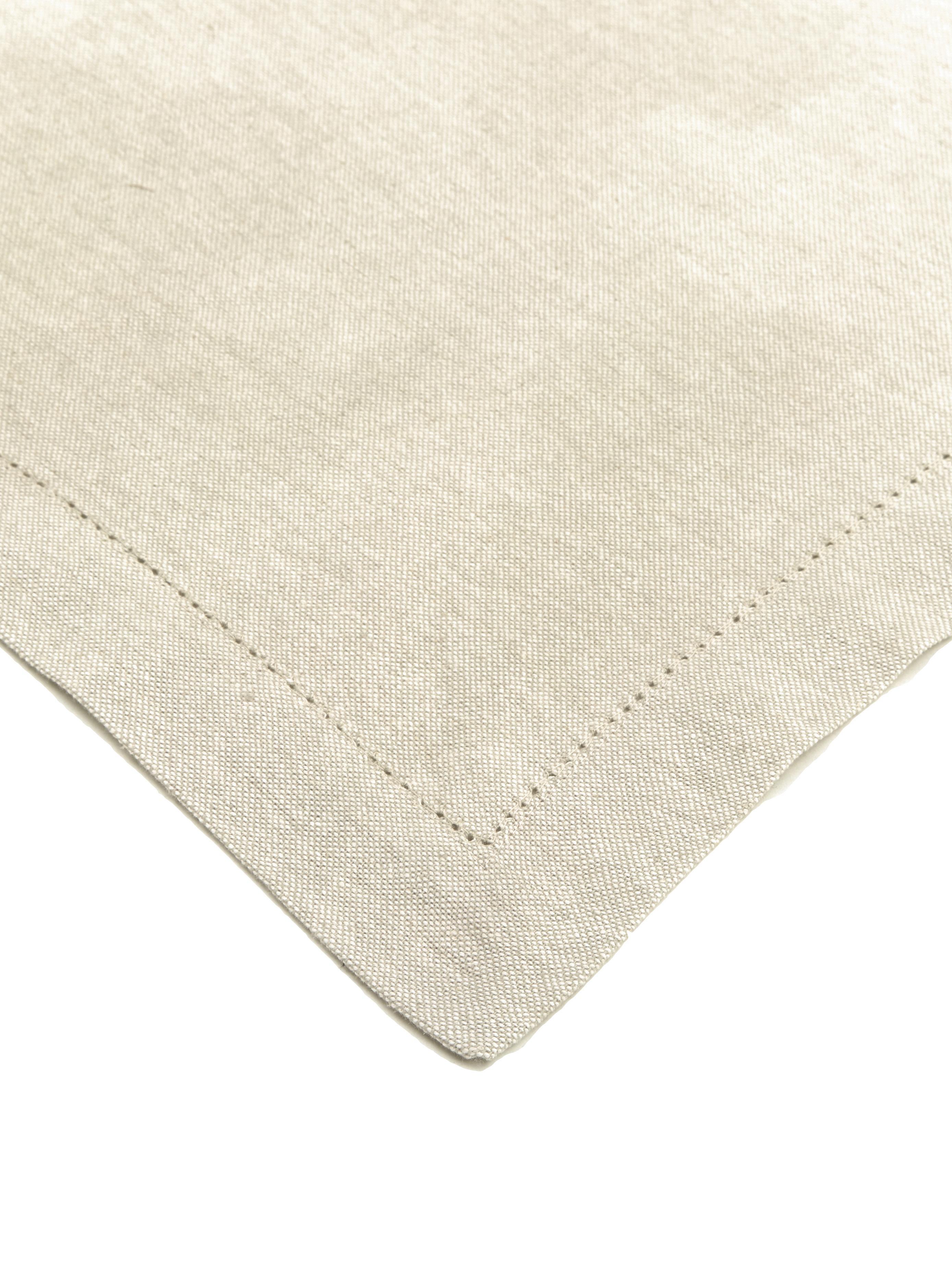 Tovaglia in cotone con ricamo Indi, Cotone, Crema, Per 6-8 persone  (Larg.140 x Lung. 250 cm)
