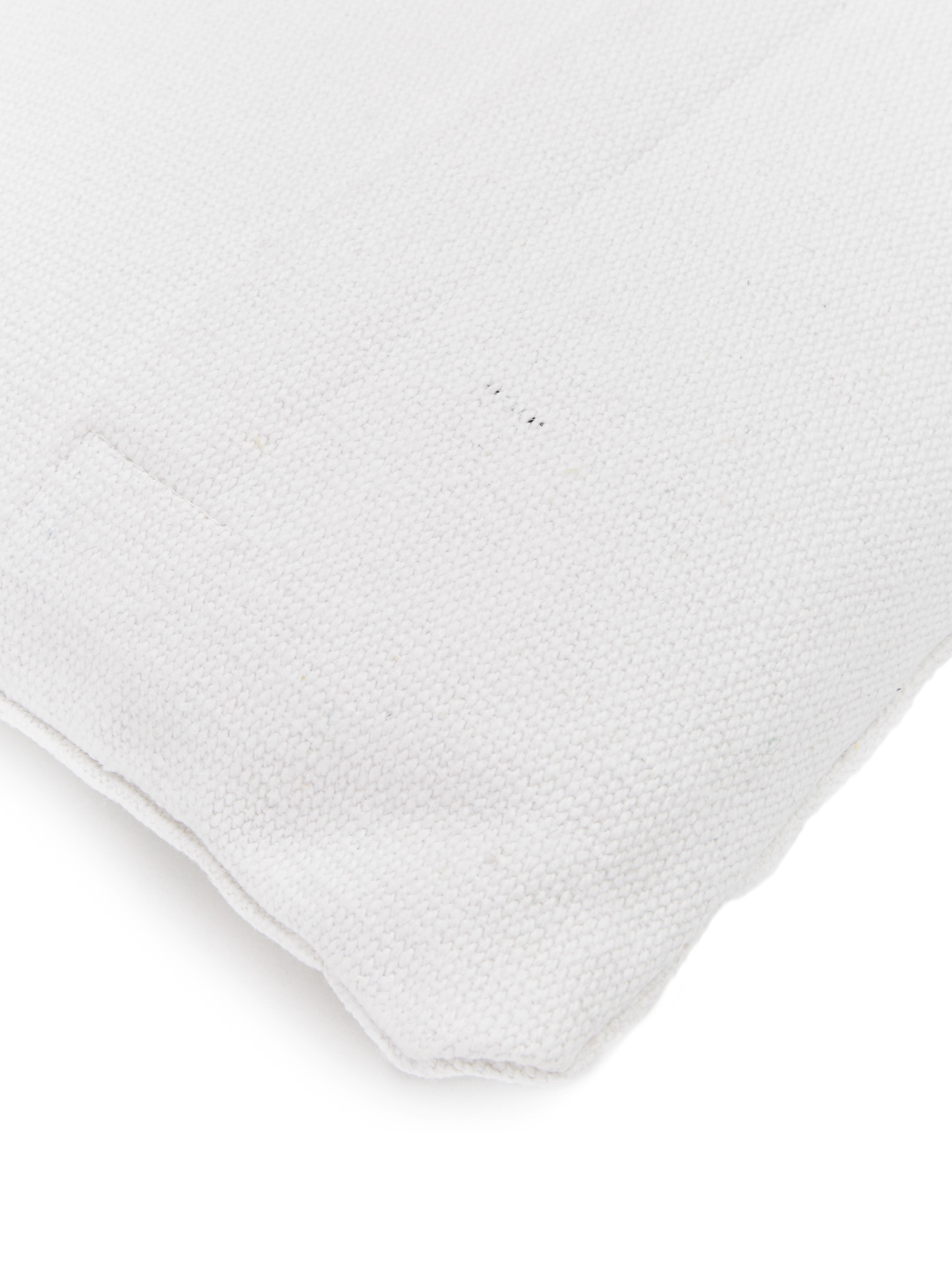 Kissen Sudda mit Hoch-Tief Effekt, mit Inlett, Bezug: 100% Baumwolle, Weiß, 30 x 50 cm