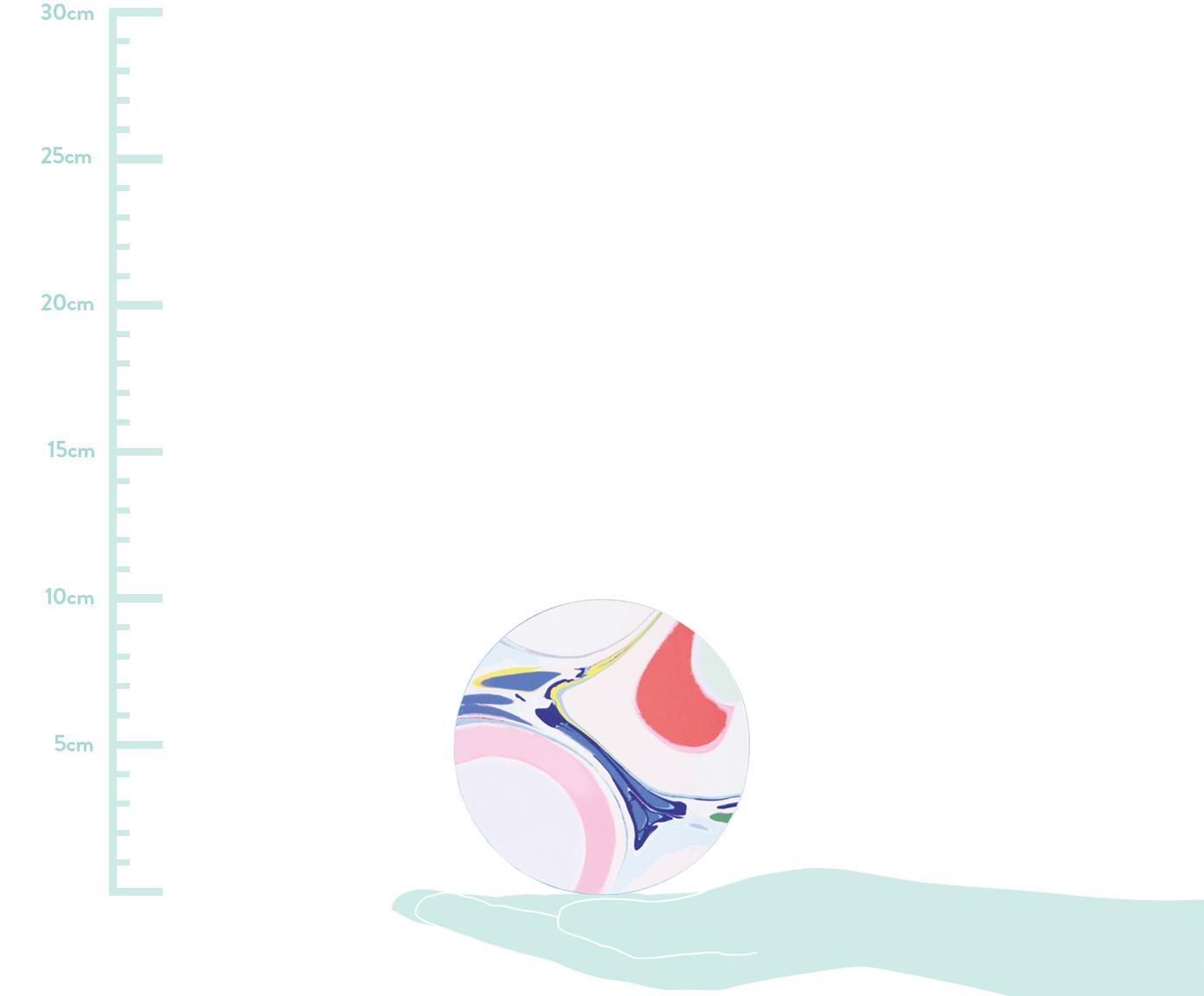 Komplet podstawek z korka Lillian, 6 elem., Korek powlekany, Wielobarwny, Ø 10 cm