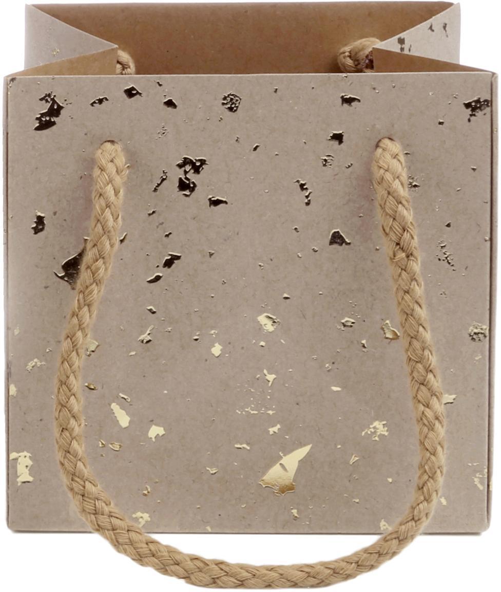 Sacchetto regalo Carat, 3 pz., Marrone, dorato, Larg. 12 x Alt. 12 cm