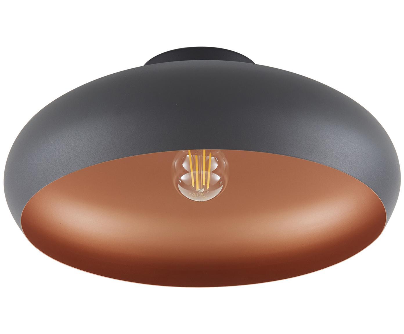 Lampa sufitowa Jeff, Osłona mocowania sufitowego: czarny, odcienie miedzi, ∅ 40 x W 17 cm