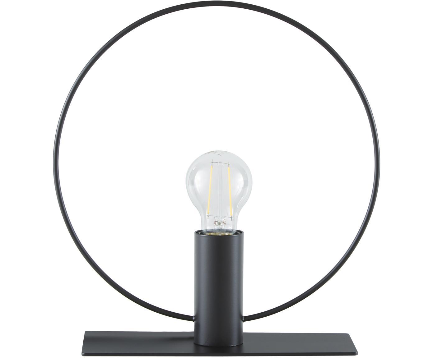 Tafellamp Pria, Lampenkap: gepoedercoat metaal, Lampvoet: gepoedercoat metaal, Zwart, Ø 30 x H 33 cm