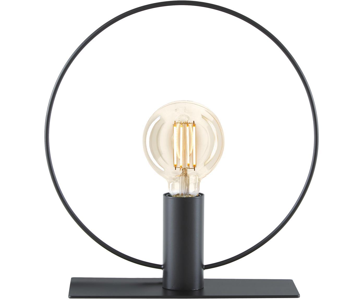Lámpara de mesa Pria, Pantalla: metal con pintura en polv, Cable: plástico, Negro, Ø 30 x Al 33 cm