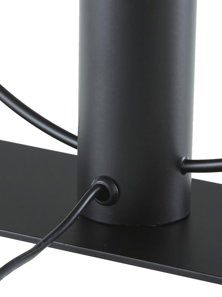 Tischlampe Pria im Industrial-Style, Lampenschirm: Metall, pulverbeschichtet, Lampenfuß: Metall, pulverbeschichtet, Schwarz, Ø 30 x H 33 cm