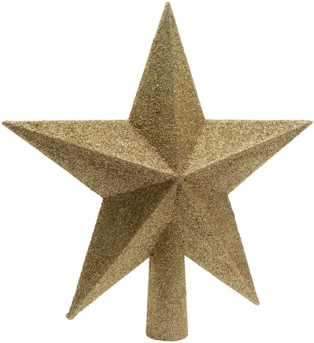 Tope de árbol de Navidad Morning Star, Plástico, Dorado, Ø 19 cm