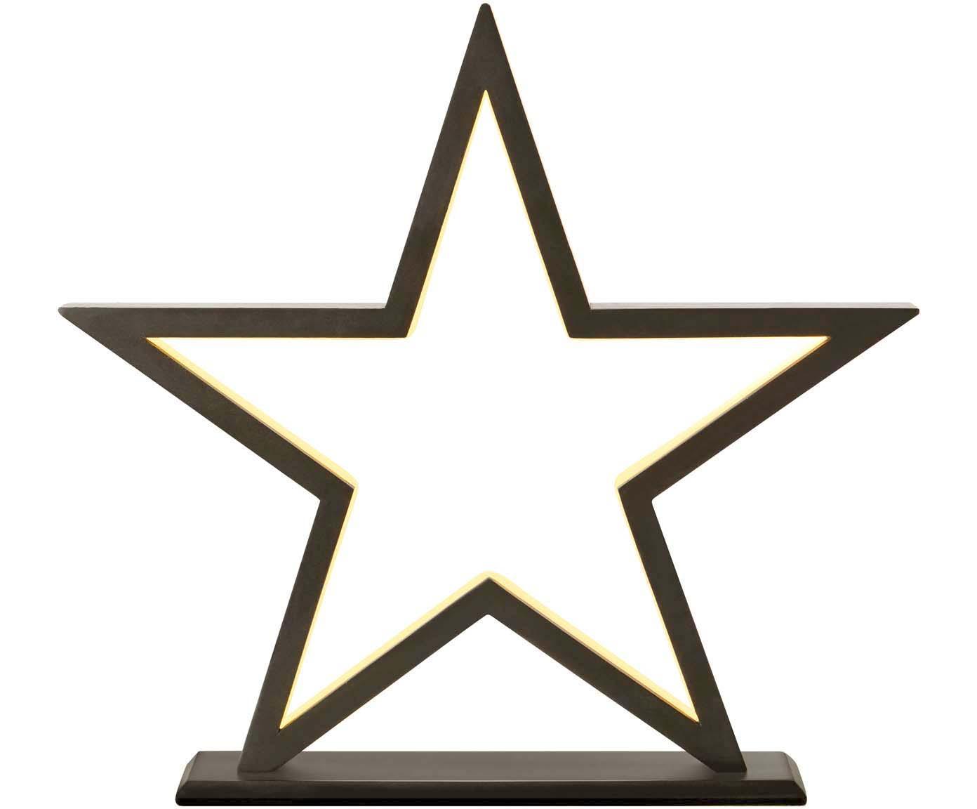 Estrella luminiosa LED Polaris, Marrón, negro, An 42 x Al 39 cm