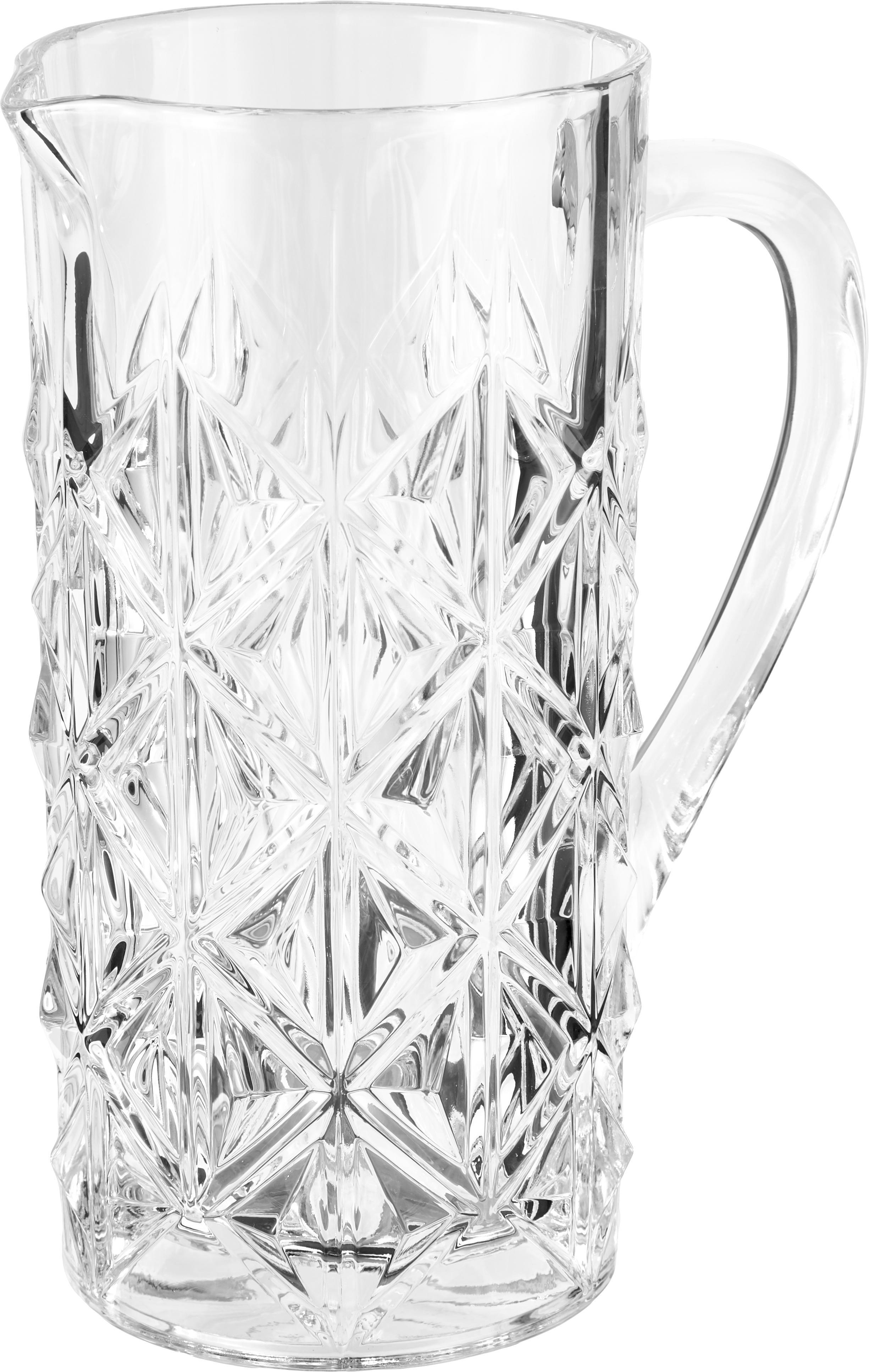 Jarra de cristal Enigma, CristalLuxion, Transparente, 1.2 L