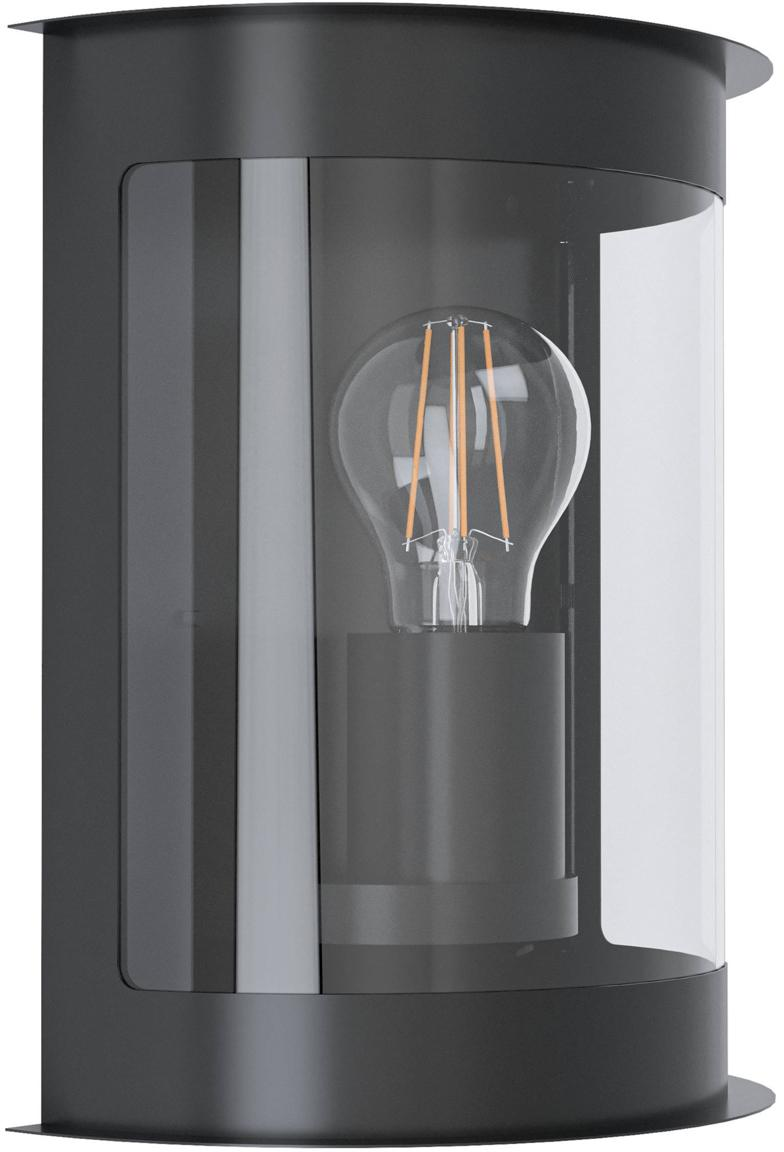 Aplique para exterior Daril, Pantalla: plástico, Estructura: acero galvanizado, Negro, An 20 x F 24 cm