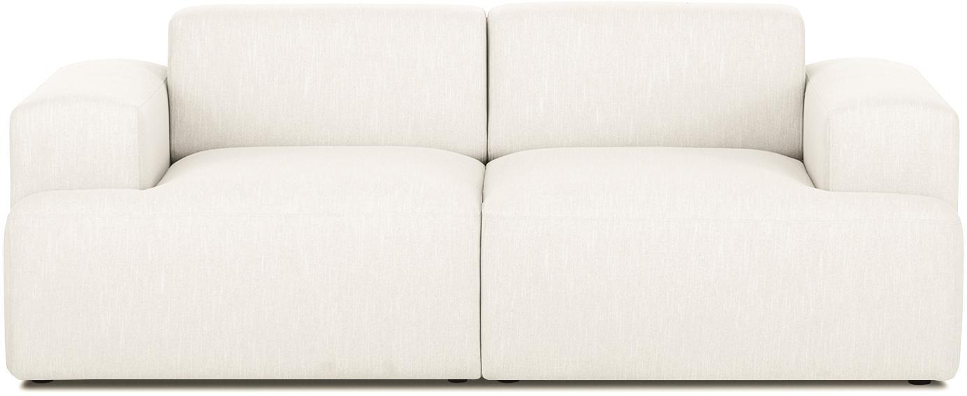 Sofa Melva (2-Sitzer), Bezug: Polyester Der hochwertige, Gestell: Massives Kiefernholz, Spa, Füße: Kiefernholz, Webstoff Beige, B 200 x T 101 cm