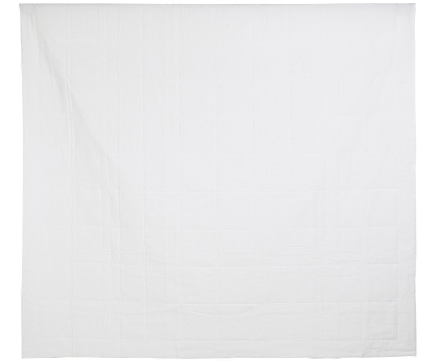 Copriletto in lino Soffio, Retro: tela (cotone), Crema, Larg. 270 x Lung. 270 cm