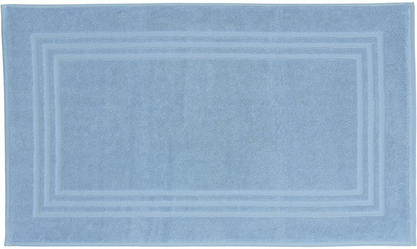 Dywanik łazienkowy Gentle, Bawełna, Chłodny niebieski, S 50 x D 80 cm