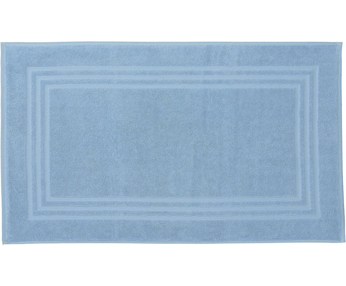 Einfarbiger Badvorleger Gentle, 100% Baumwolle, Eisblau, 50 x 80 cm