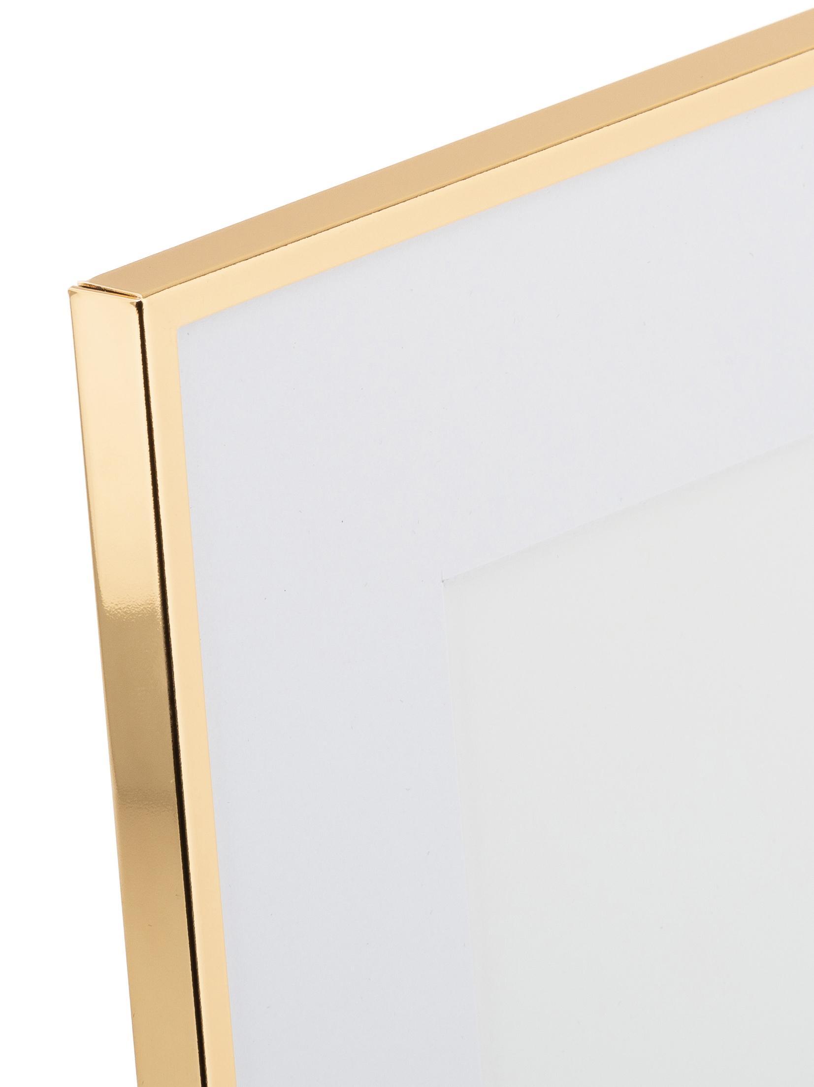 Cornice dorata Memento, Cornice: ferro, lucido verniciato, Retro: pannelli di fibra a media, Dorato, 13 x 18 cm