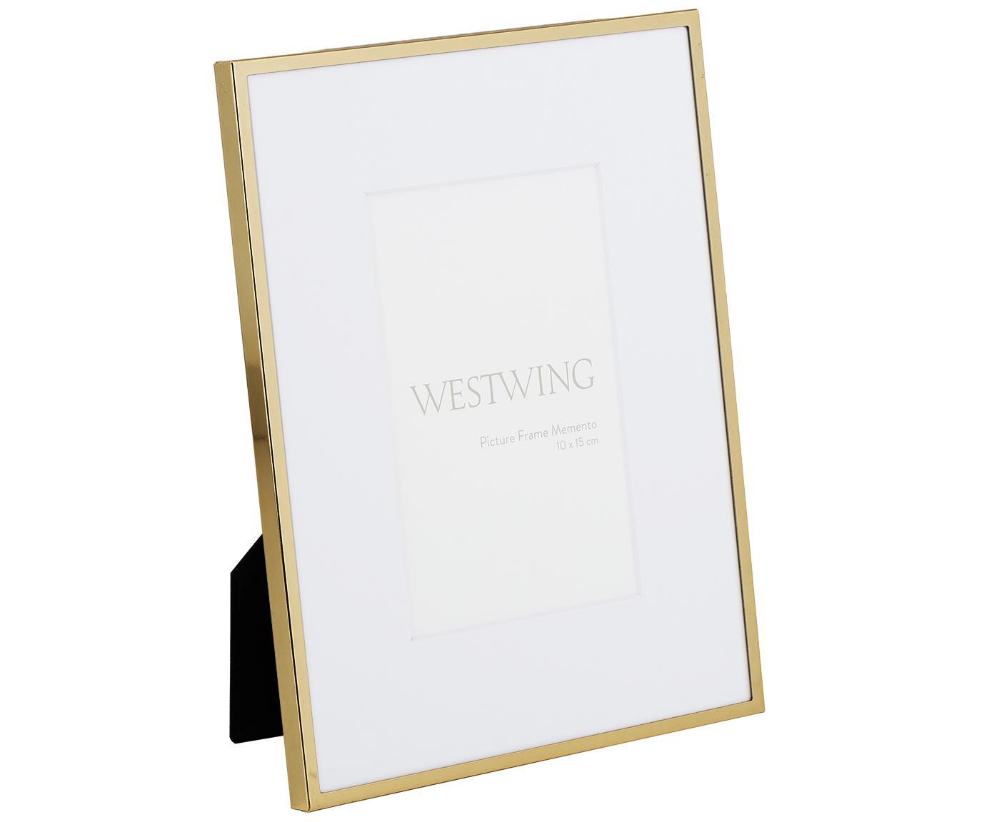 Fotolijstje Memento, Lijst: hoogglans gelakt ijzer, Goudkleurig, 10 x 15 cm