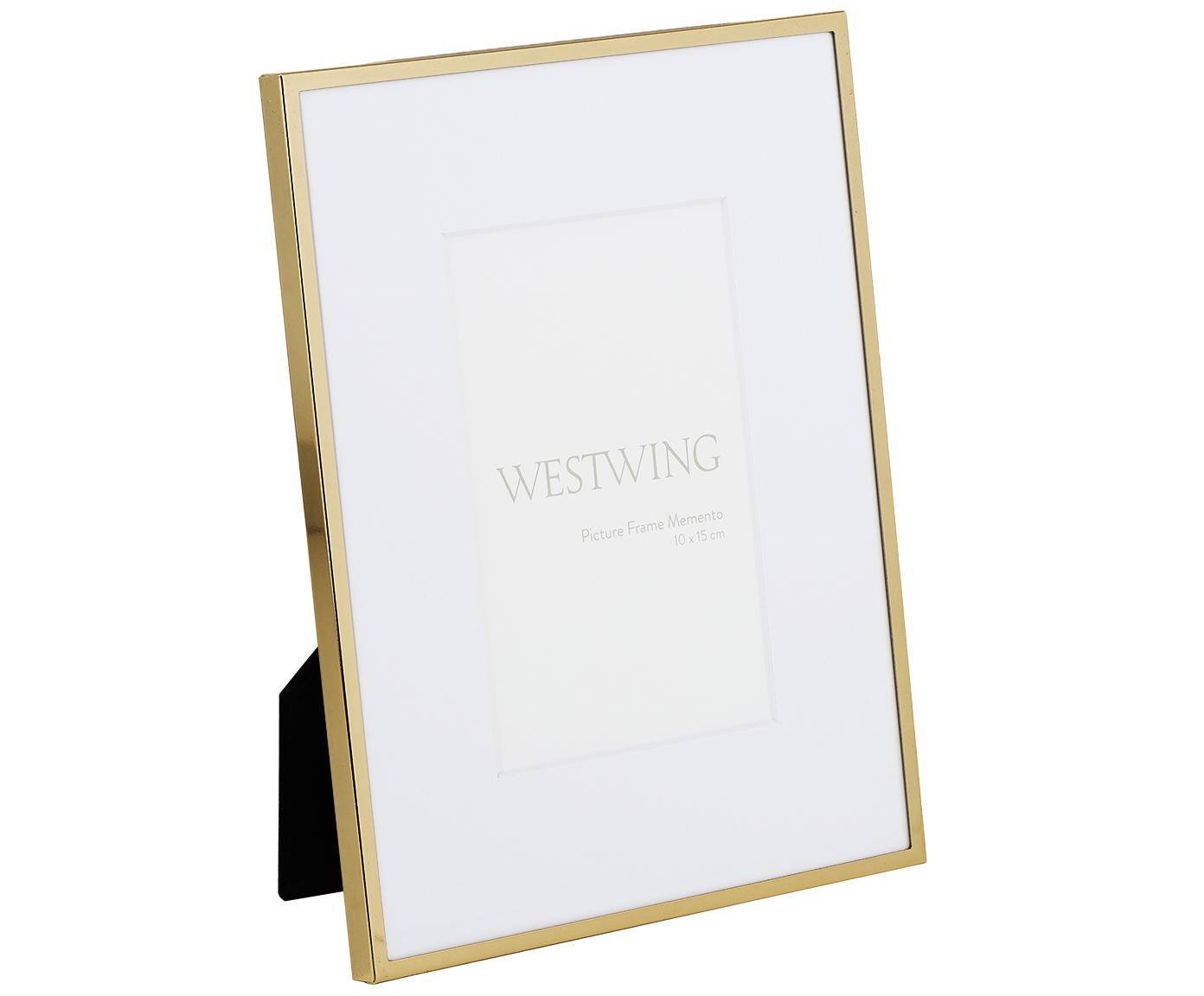 Marco Memento, Parte trasera: tablero de fibras de dens, Dorado, 10 x 15 cm