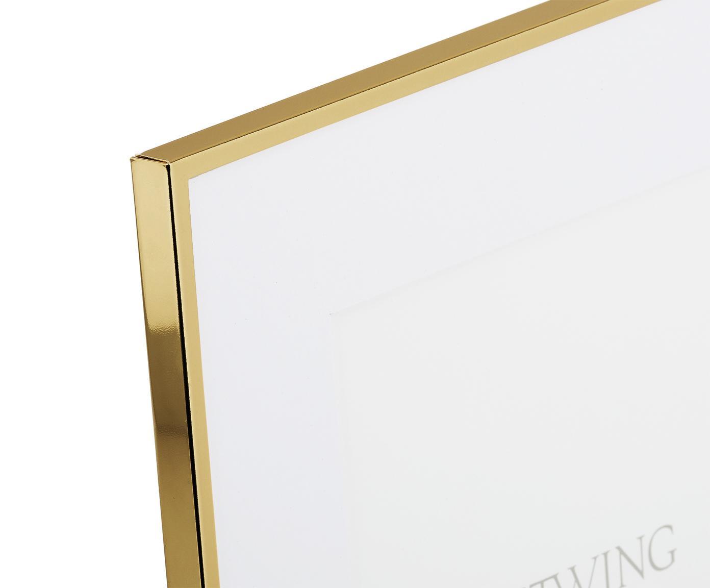 Fotolijstje Memento, Lijst: hoogglans gelakt ijzer, Goudkleurig, 13 x 18 cm