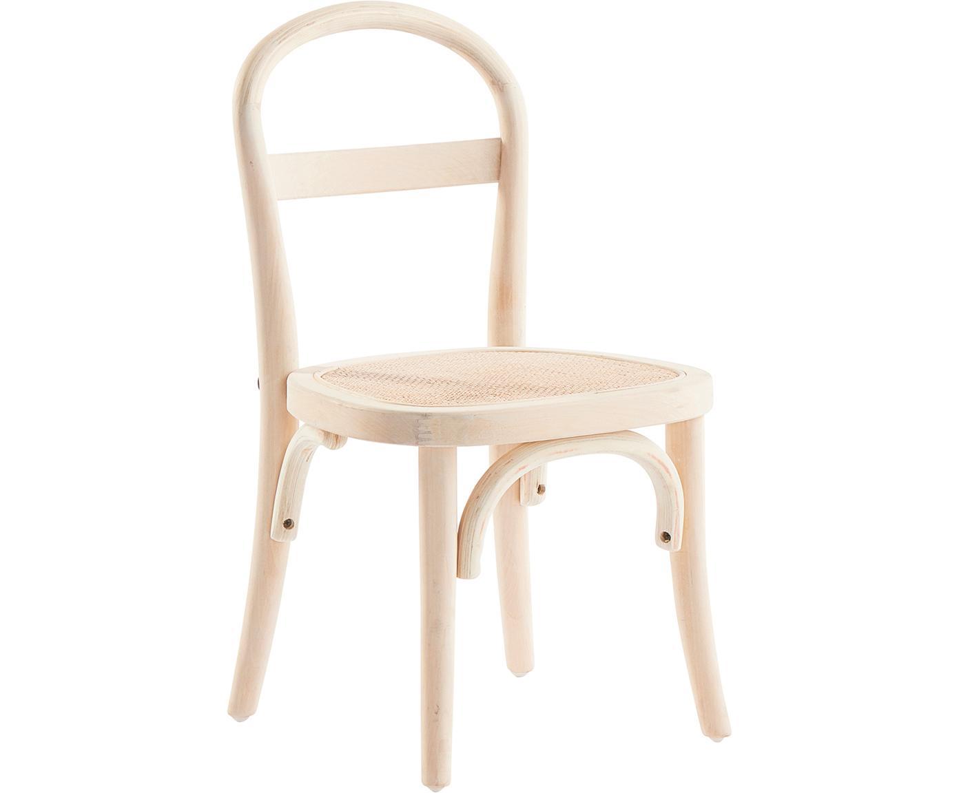 Krzesło dla dzieci Rippats, 2 szt., Drewno brzozowe, rattan, Drewno brzozowe, rattan, S 33 x G 35 cm